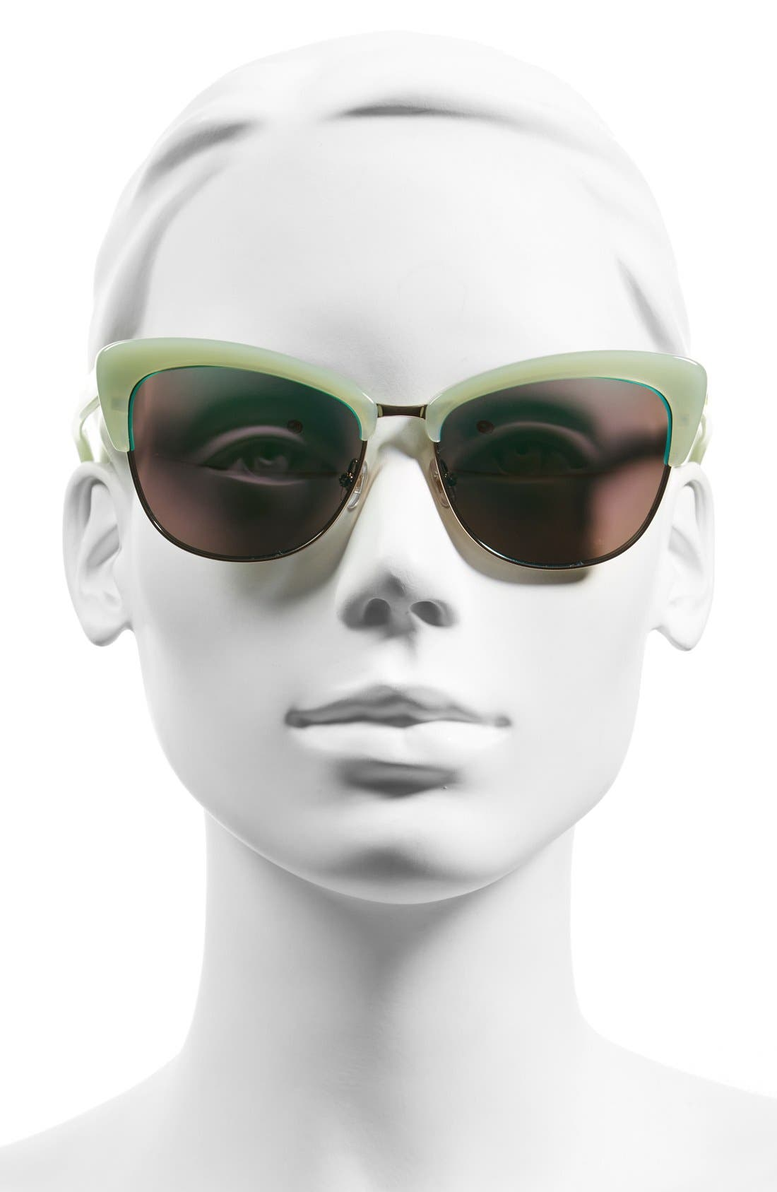 'genette' 56mm cat eye sunglasses,                             Alternate thumbnail 2, color,                             300