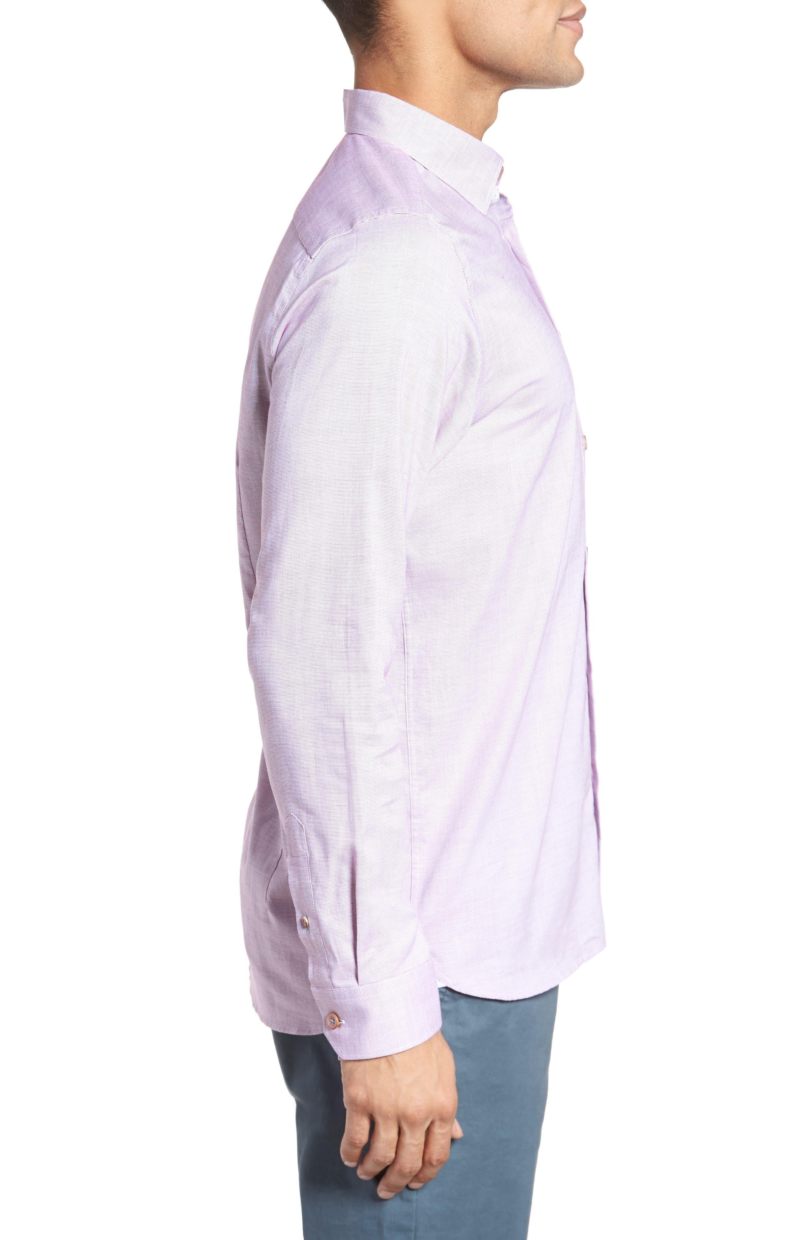 Slim Fit Textured Sport Shirt,                             Alternate thumbnail 14, color,