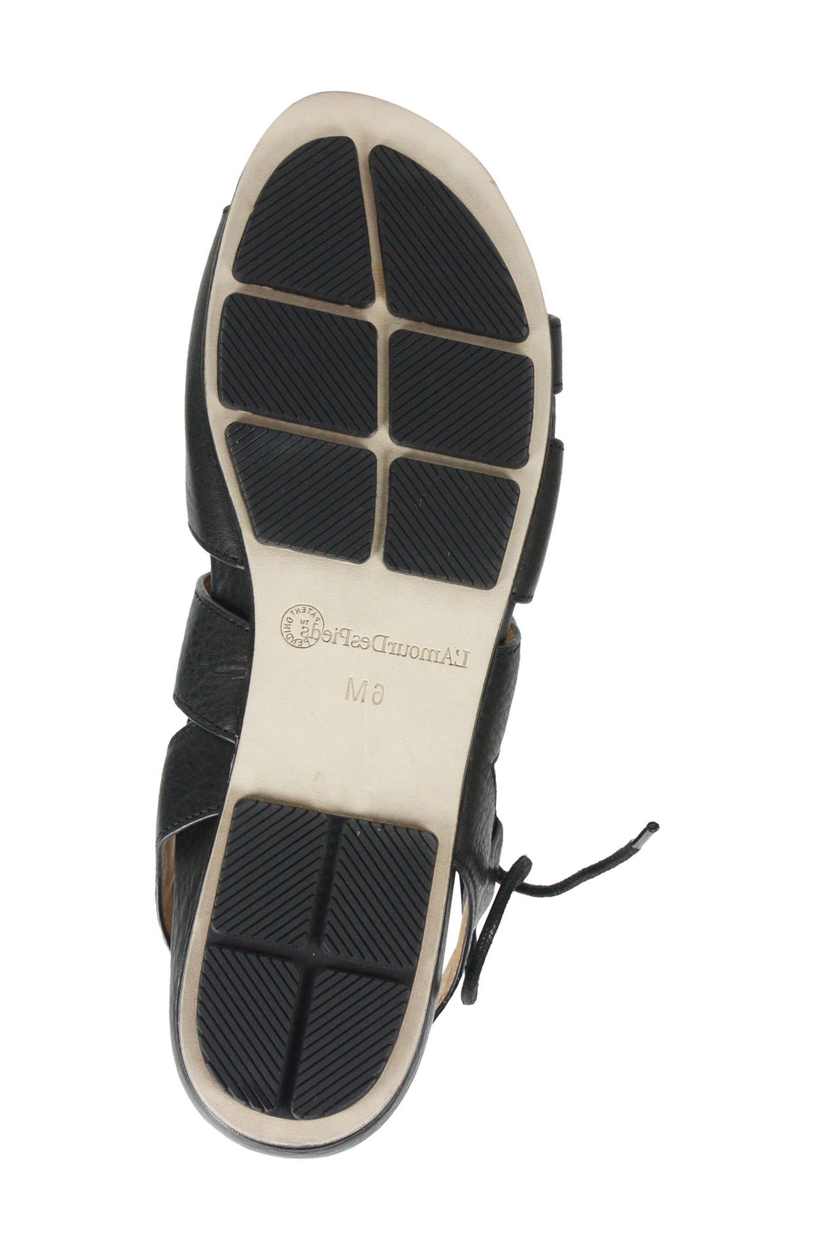 Digbee Sandal,                             Alternate thumbnail 6, color,                             BLACK LEATHER