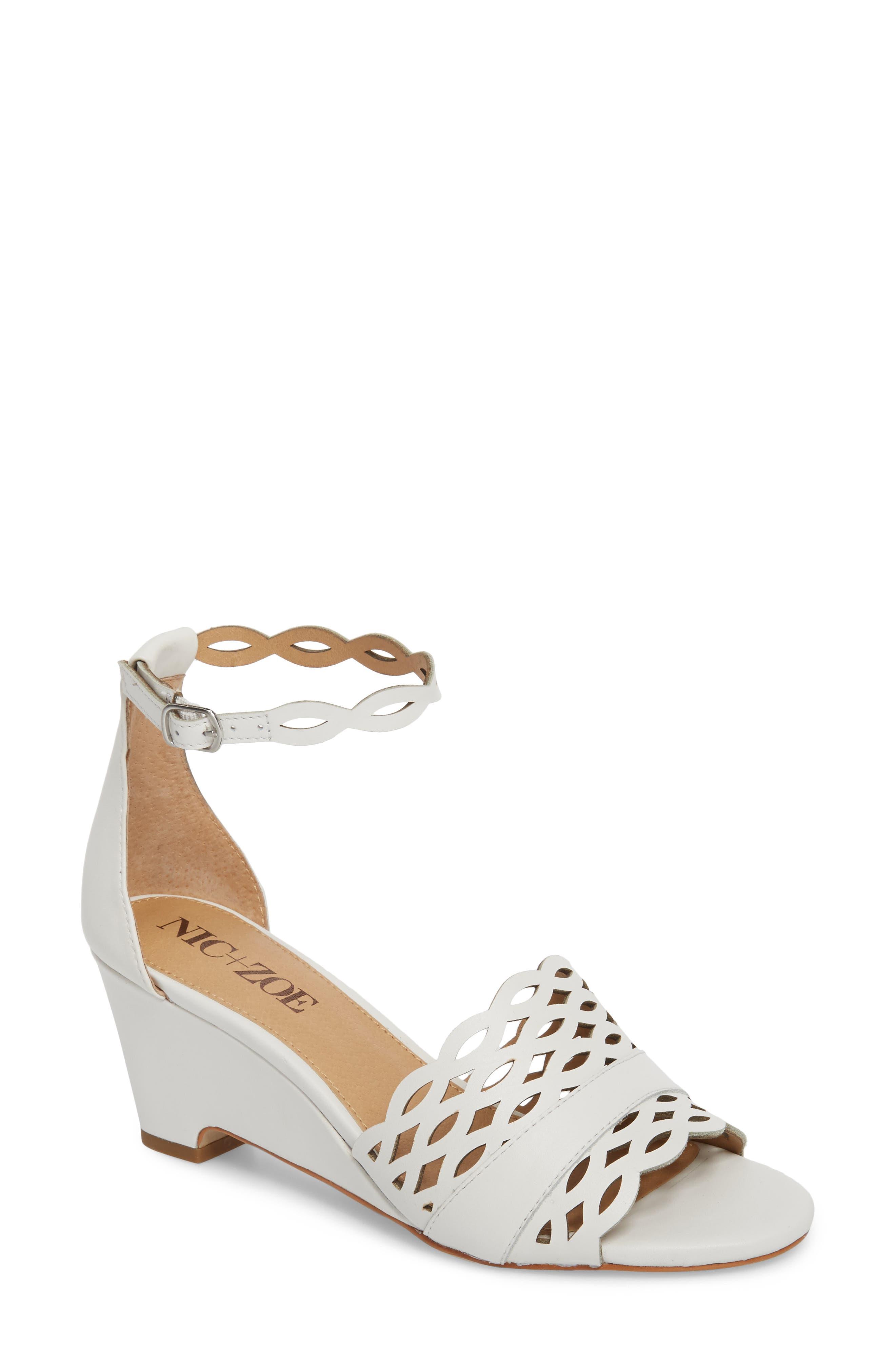 Nic+Zoe Flora Wedge Sandal, White