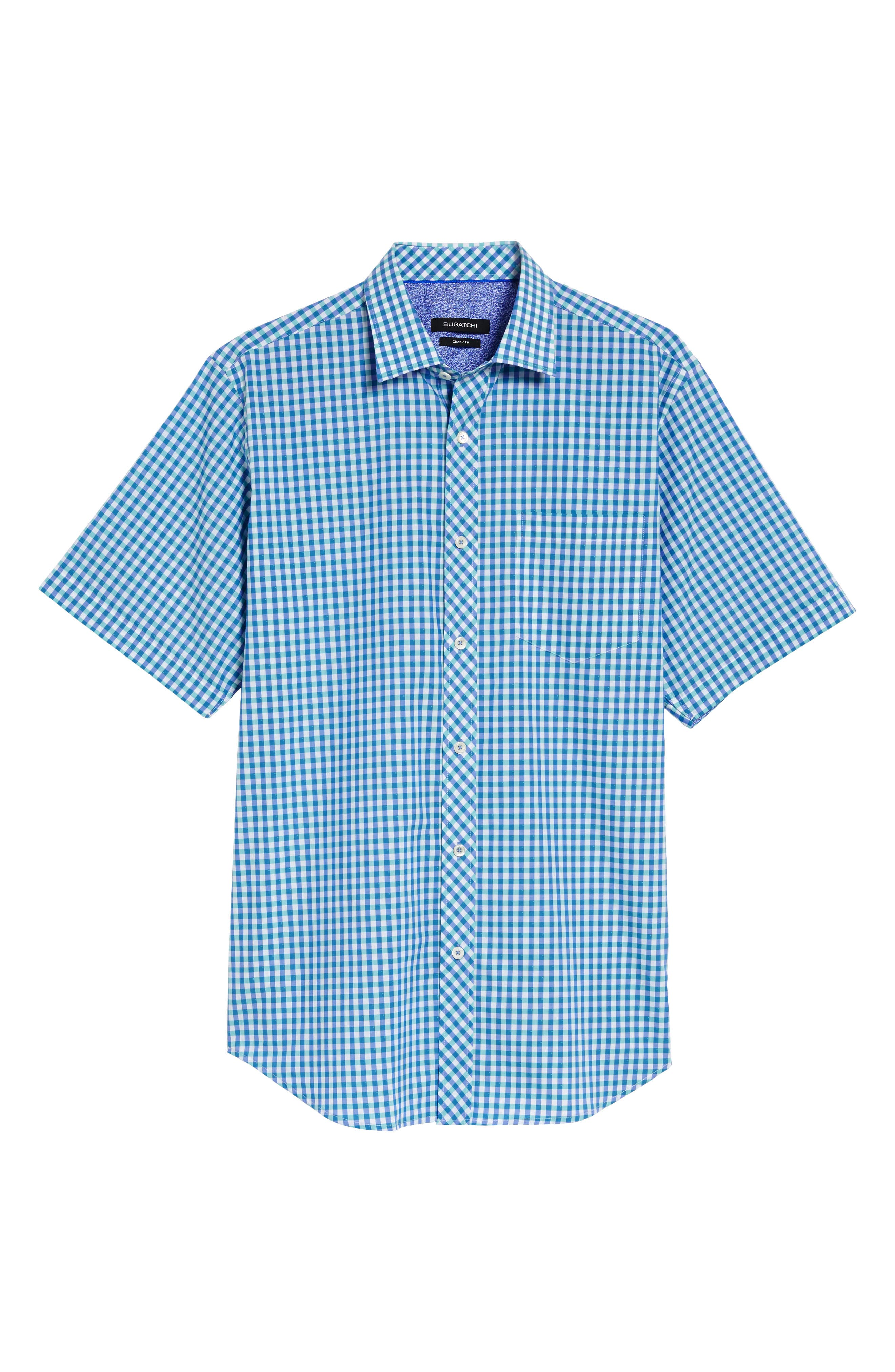 Classic Fit Check Sport Shirt,                             Alternate thumbnail 6, color,                             420