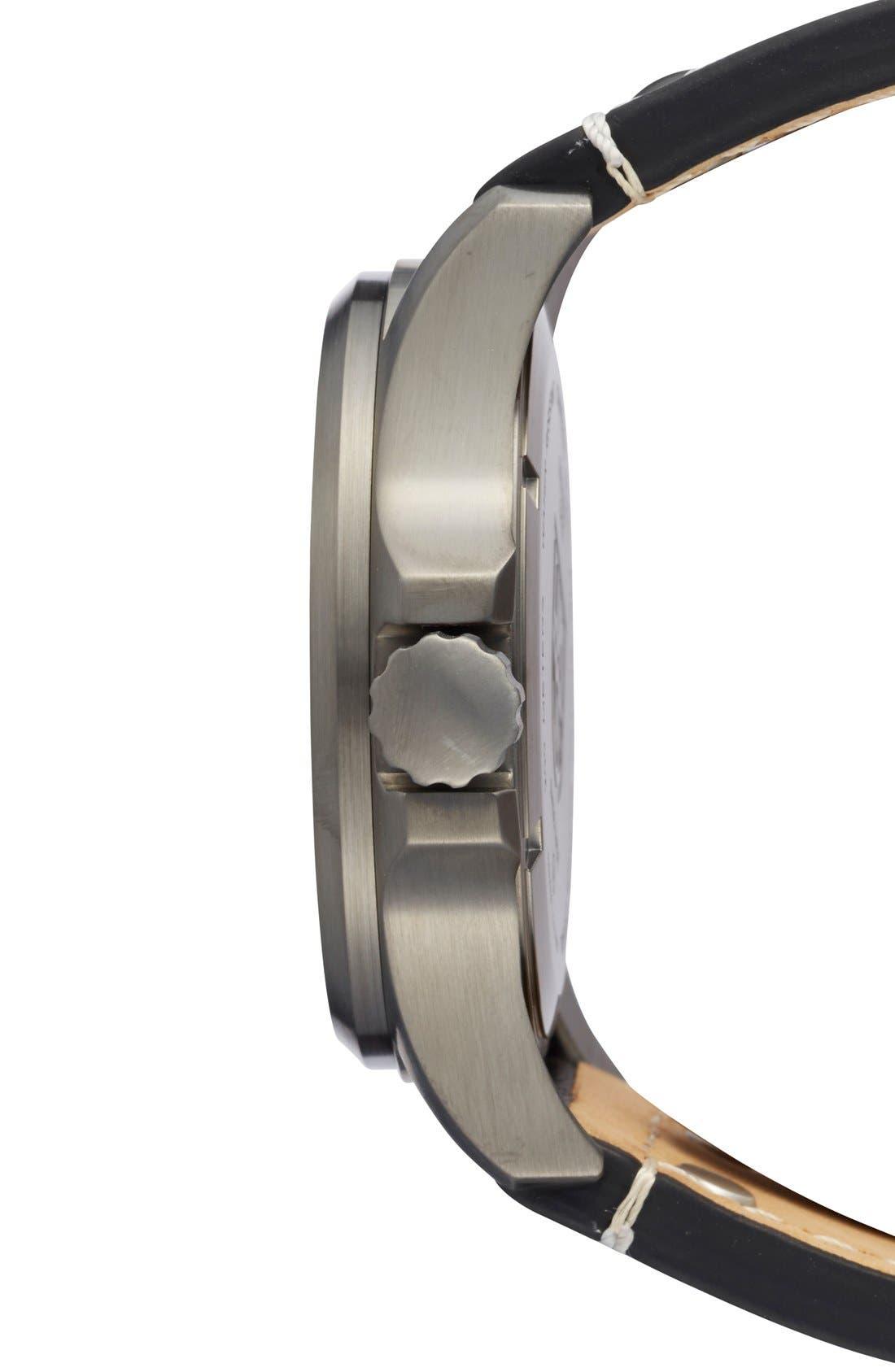 'Land - Atacama Field' Leather Strap Watch, 45mm,                             Alternate thumbnail 21, color,