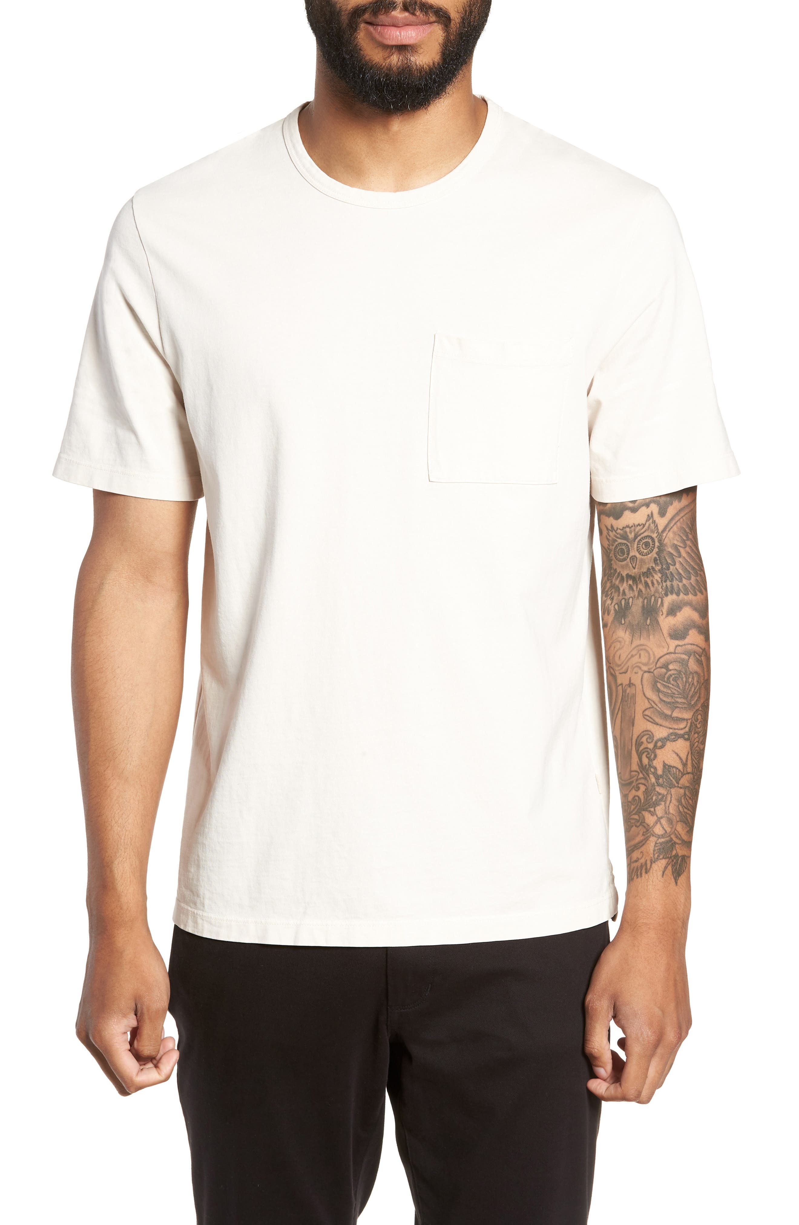 Regular Fit Garment Dye Pocket T-Shirt,                             Main thumbnail 1, color,                             SAIL