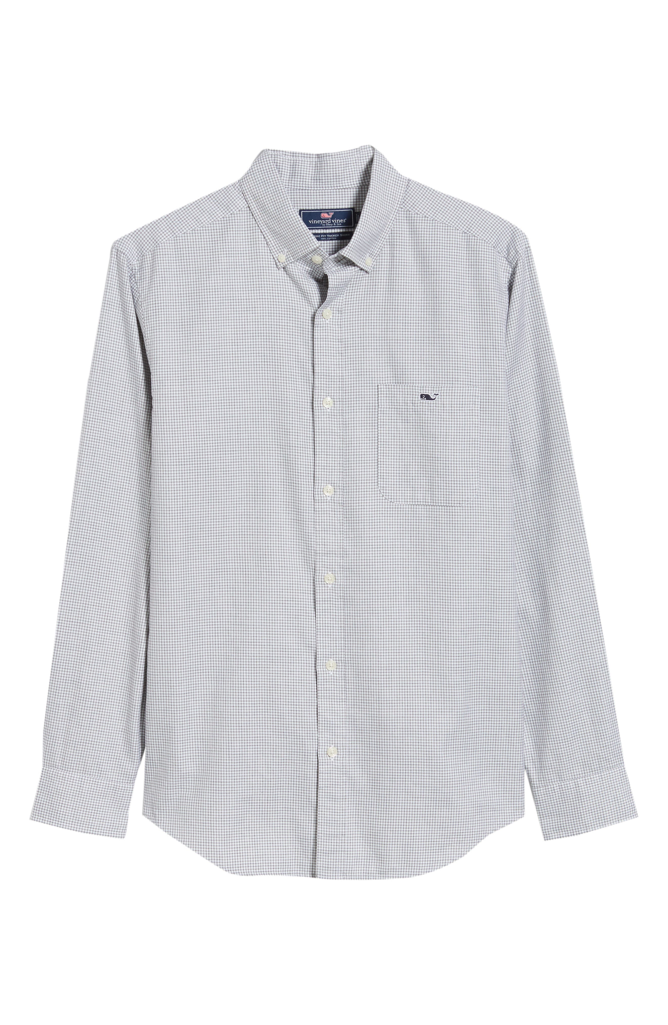 Kettle Cove Regular Fit Gingham Sport Shirt,                             Alternate thumbnail 5, color,                             BARRACUDA