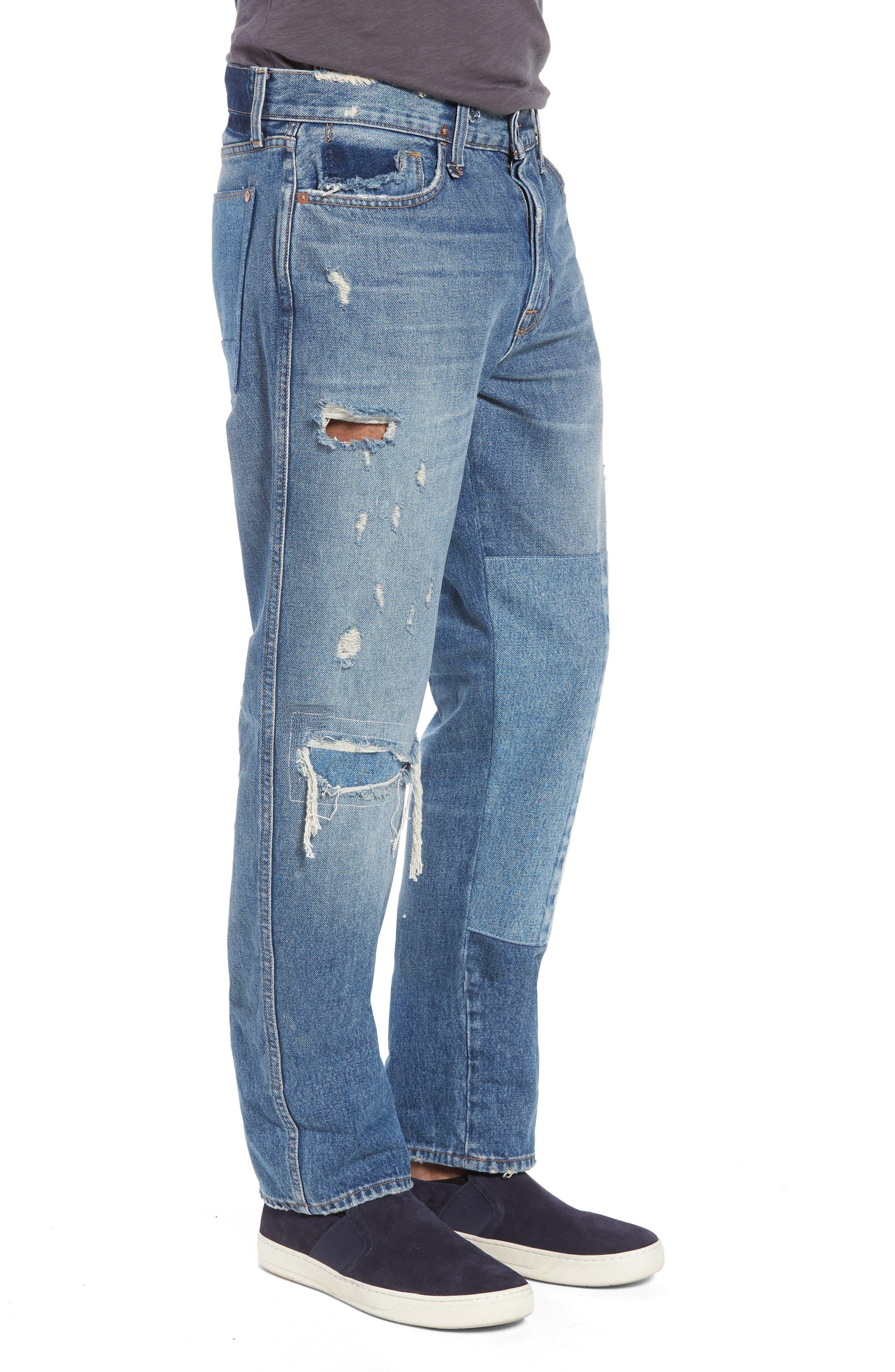 Dixon Straight Leg Jeans,                             Alternate thumbnail 3, color,                             IRON HEAD