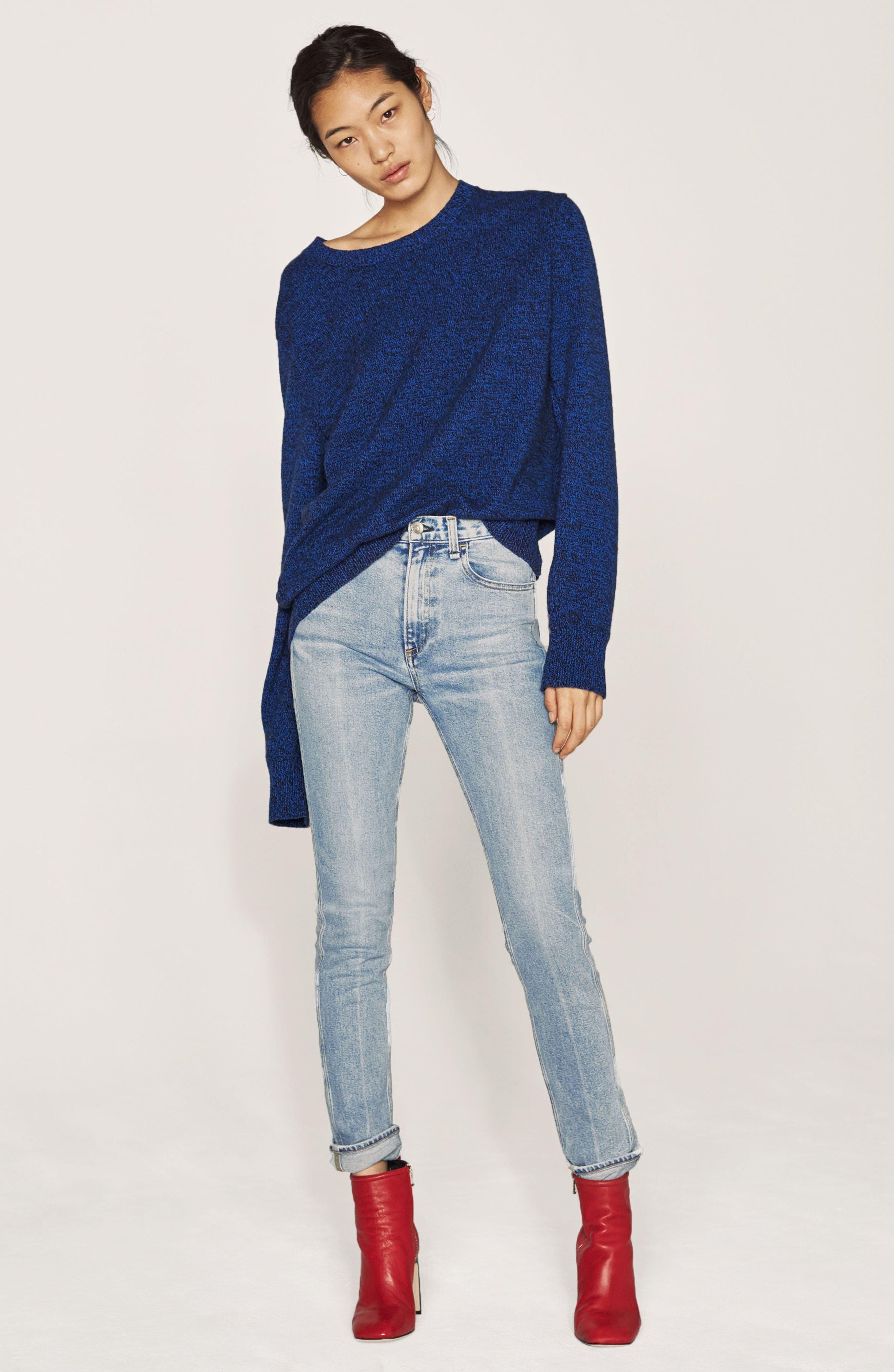 Lou High Waist Skinny Jeans,                             Alternate thumbnail 7, color,                             425