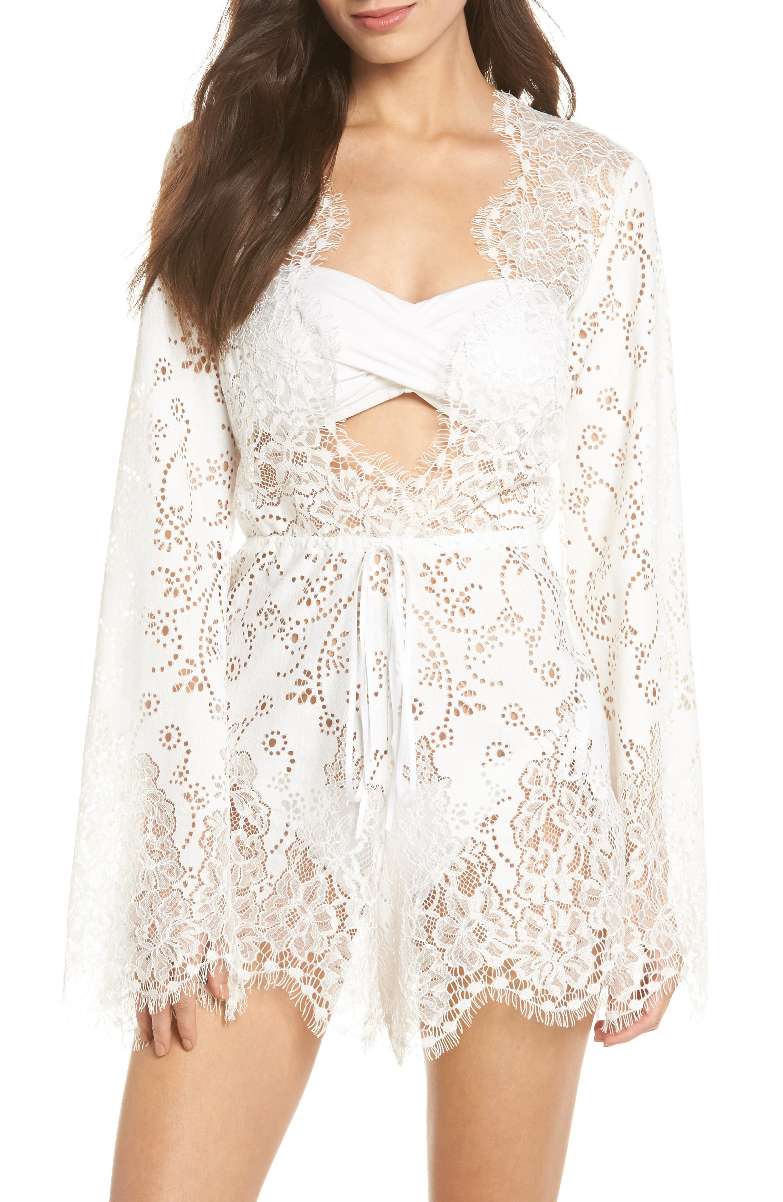 Olympia Lace Cover-Up Romper,                             Main thumbnail 2, color,