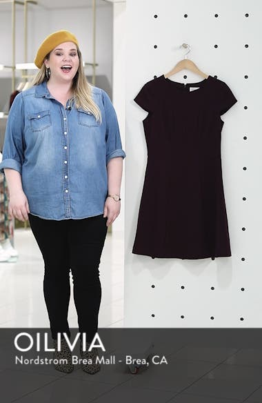 Cap Sleeve Fit & Flare Dress, sales video thumbnail