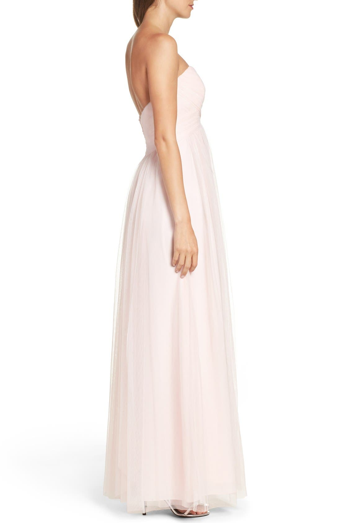 Convertible Strap Tulle Gown,                             Alternate thumbnail 12, color,