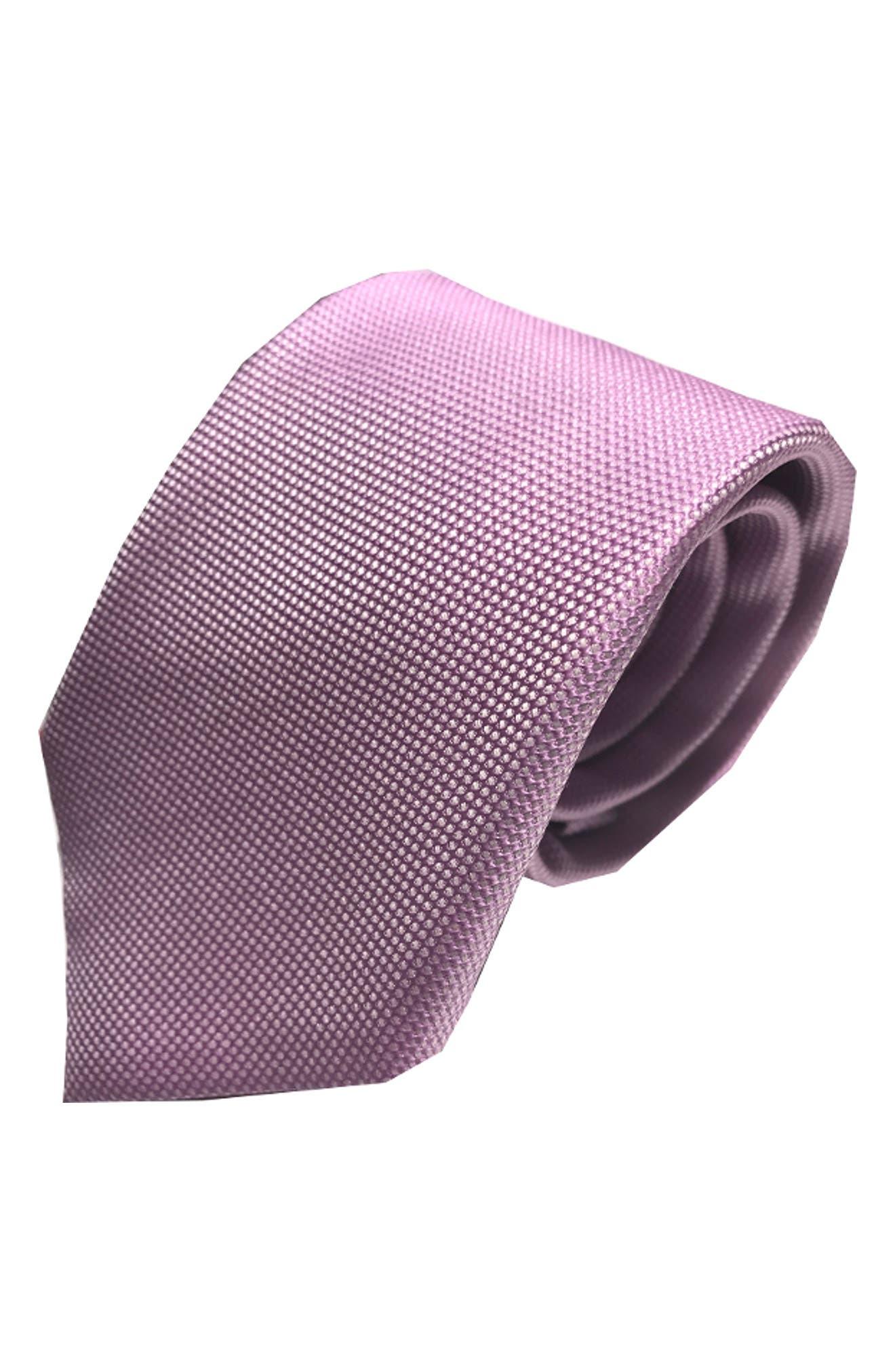 Mullet Silk Tie,                         Main,                         color, LAVENDER