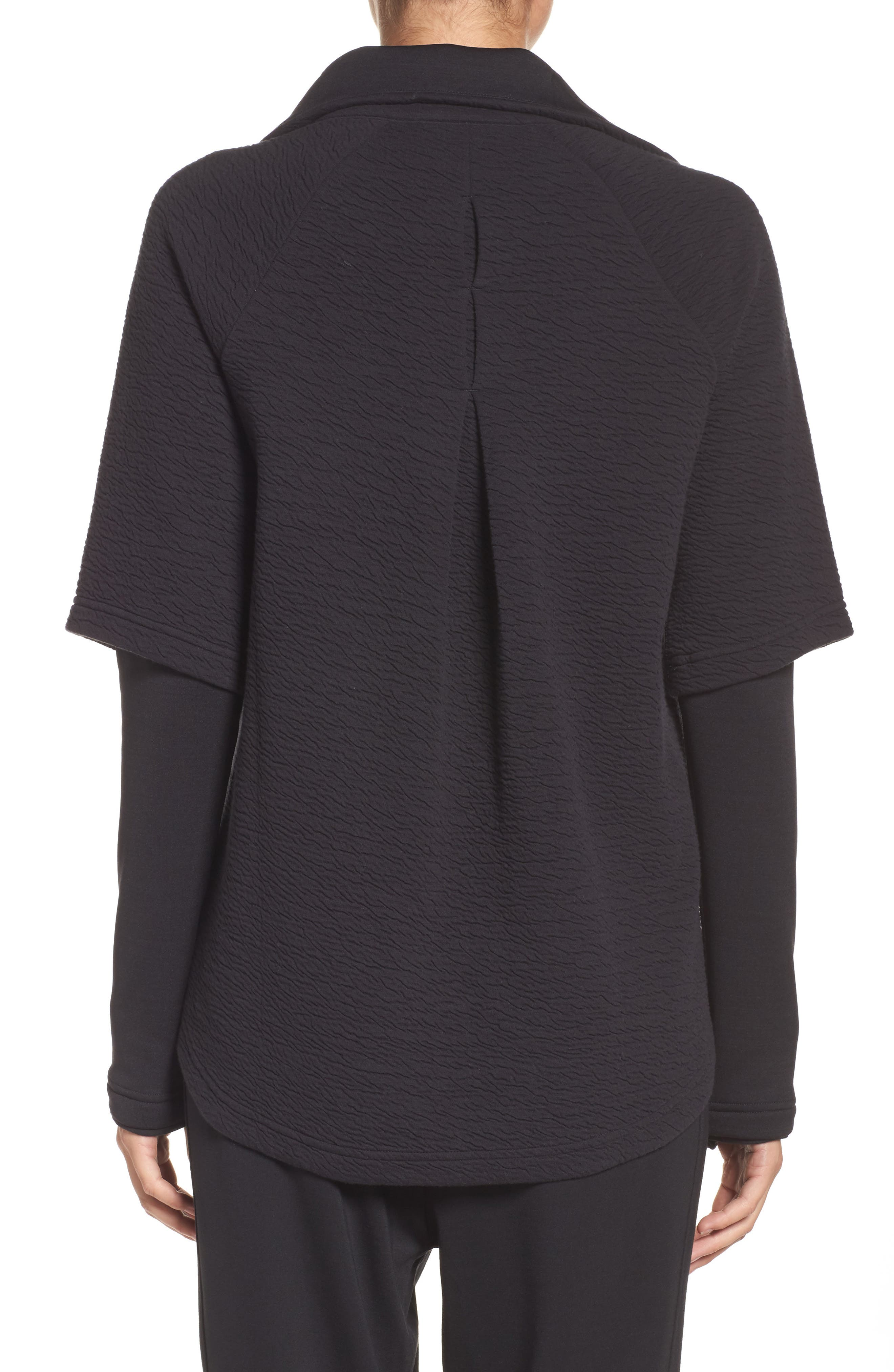 Heat Knit Drape Jacket,                             Alternate thumbnail 2, color,                             001