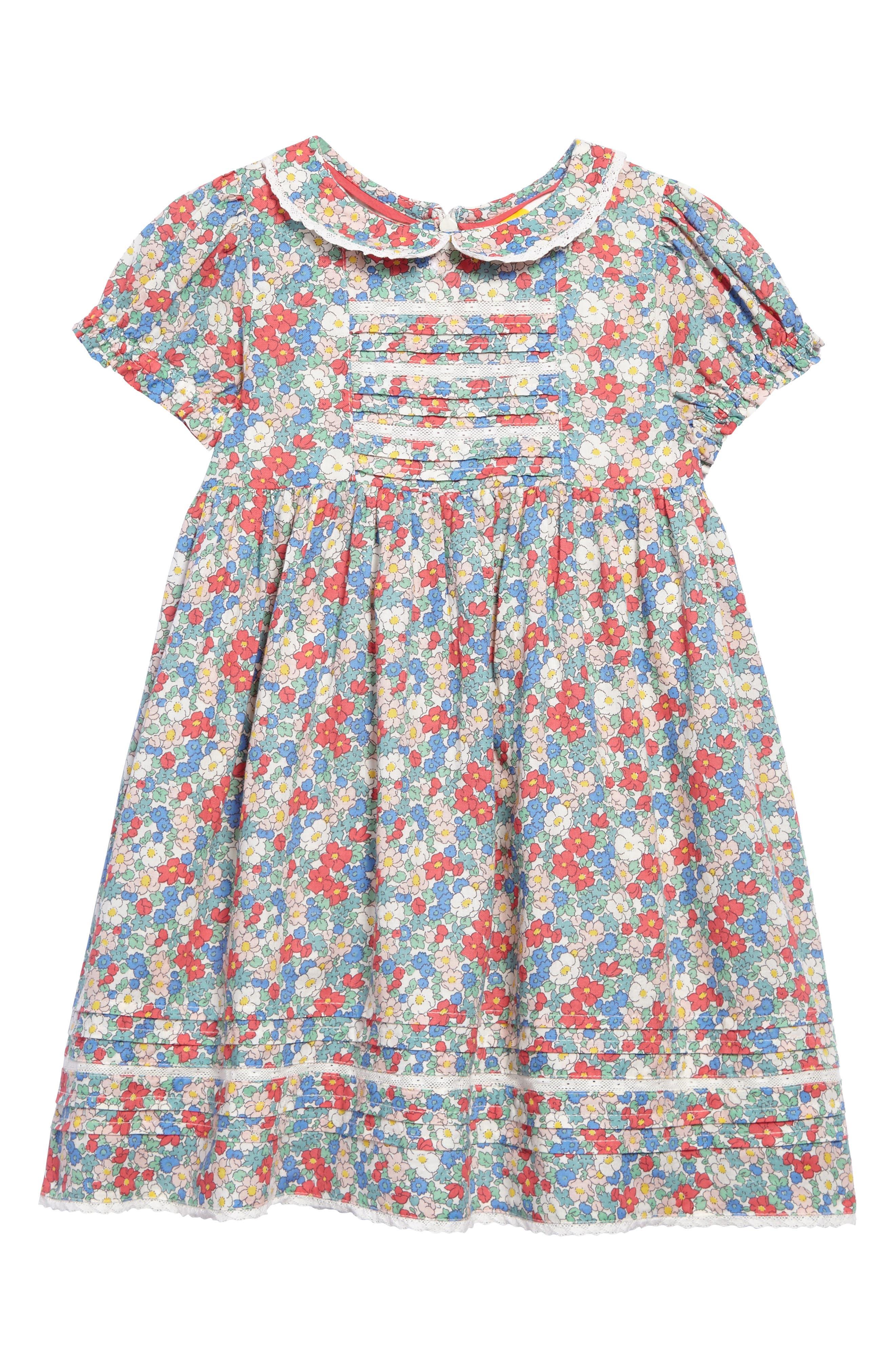 Nostalgic Woven Dress, Main, color, 606