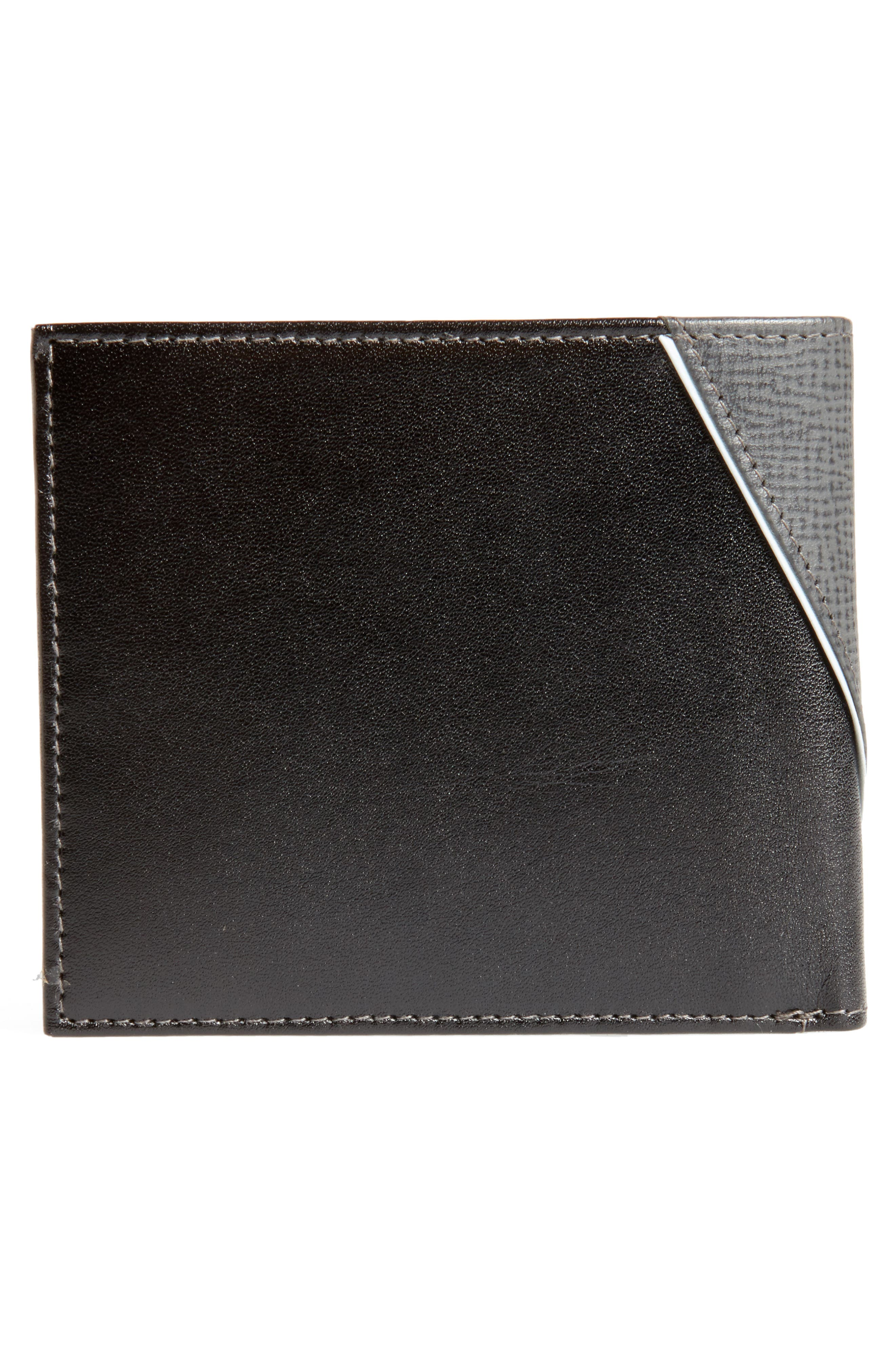 TED BAKER LONDON,                             Roller Textured Leather Wallet,                             Alternate thumbnail 3, color,                             020