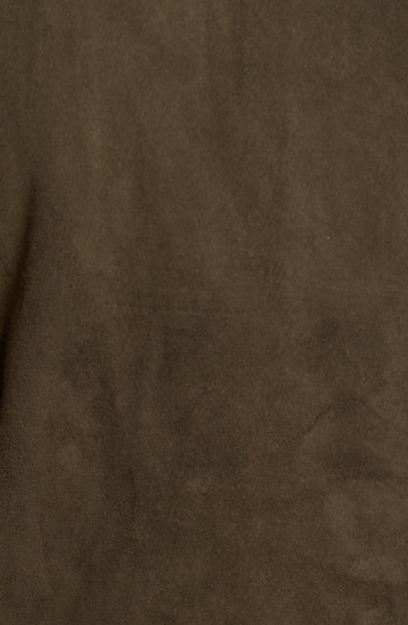Zip Front Leather Jacket,                             Alternate thumbnail 6, color,                             307