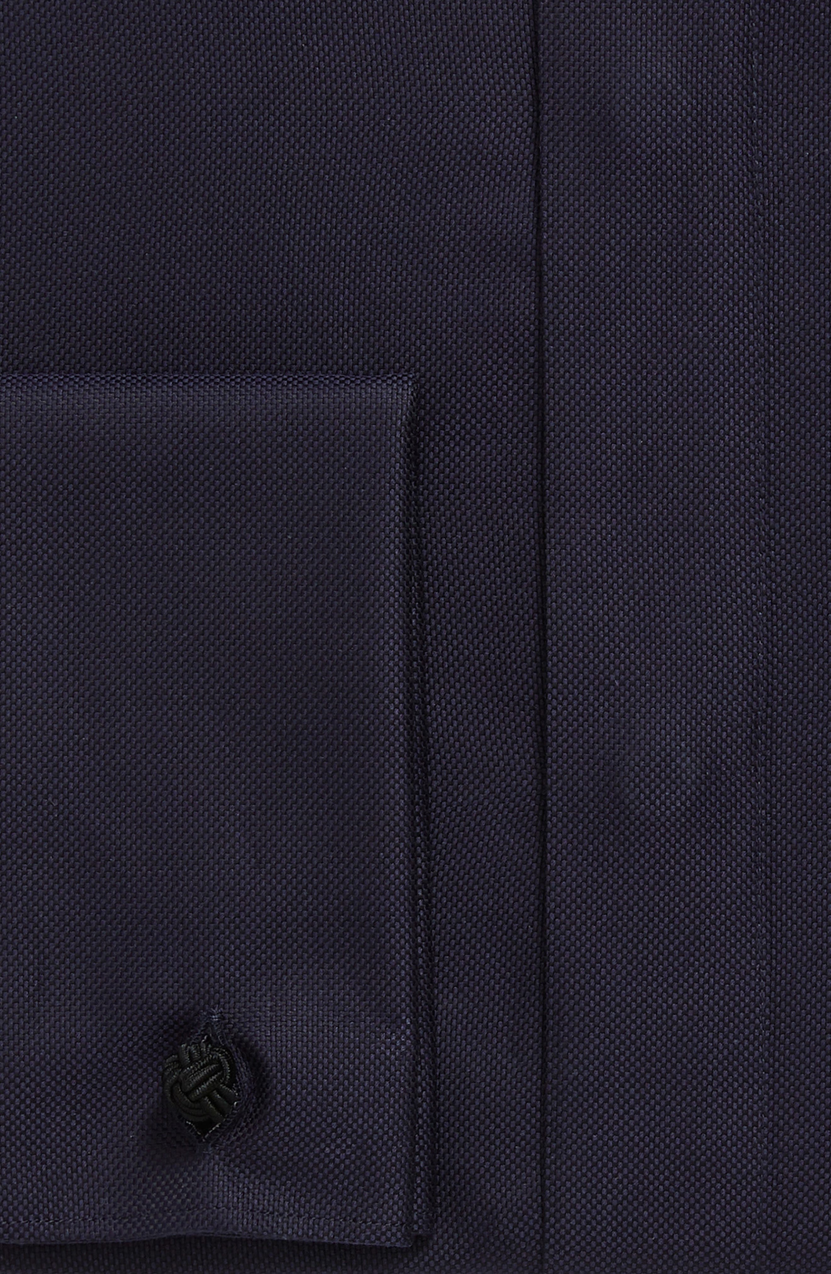Slim Fit Solid Tuxedo Shirt,                             Alternate thumbnail 2, color,                             NAVY