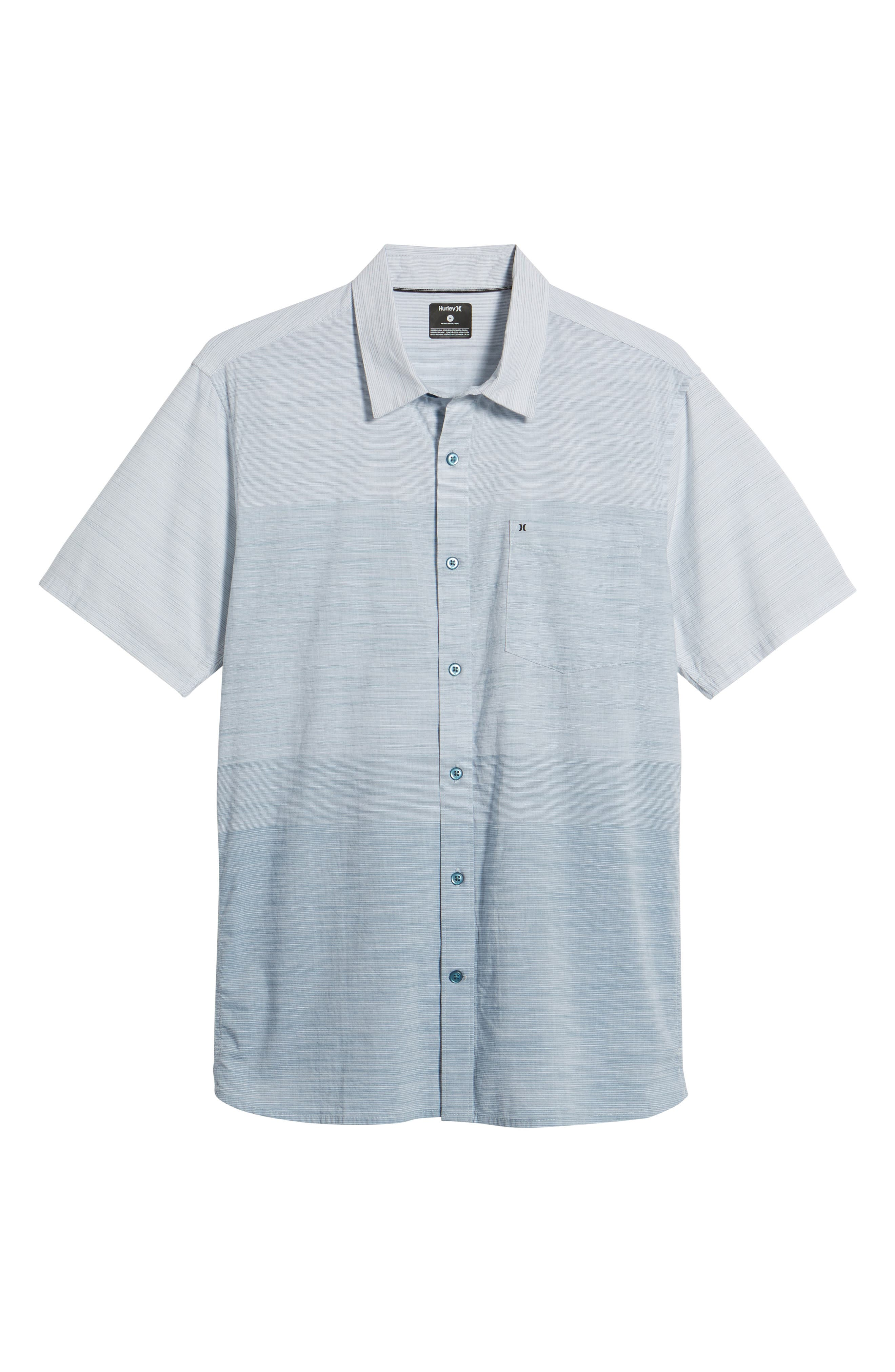 Hudson Woven Shirt,                             Alternate thumbnail 6, color,                             NOISE AQUA