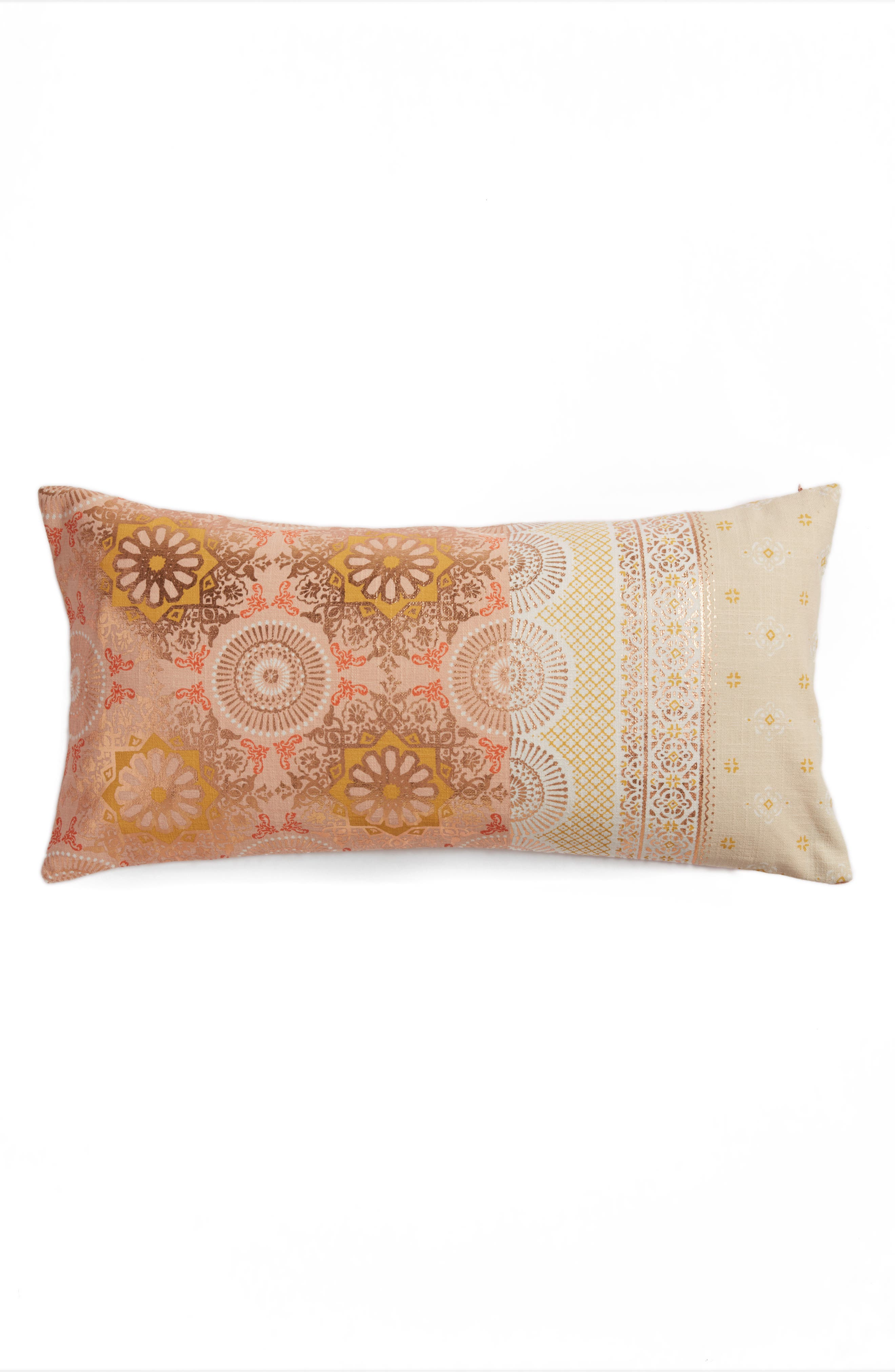 Moroccan Print Accent Pillow,                         Main,                         color, 650