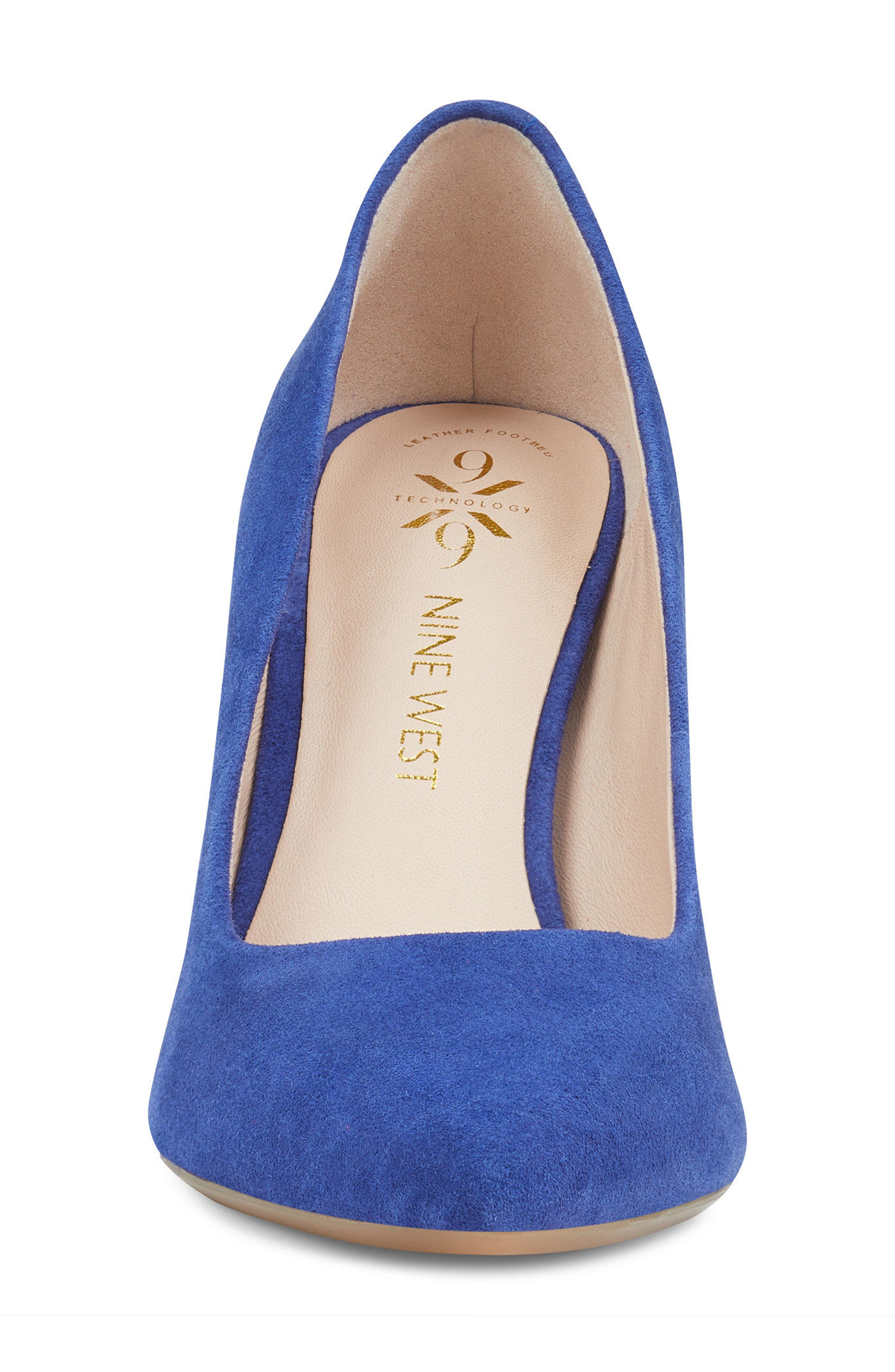 Astoria Pump,                             Alternate thumbnail 4, color,                             DARK BLUE SUEDE