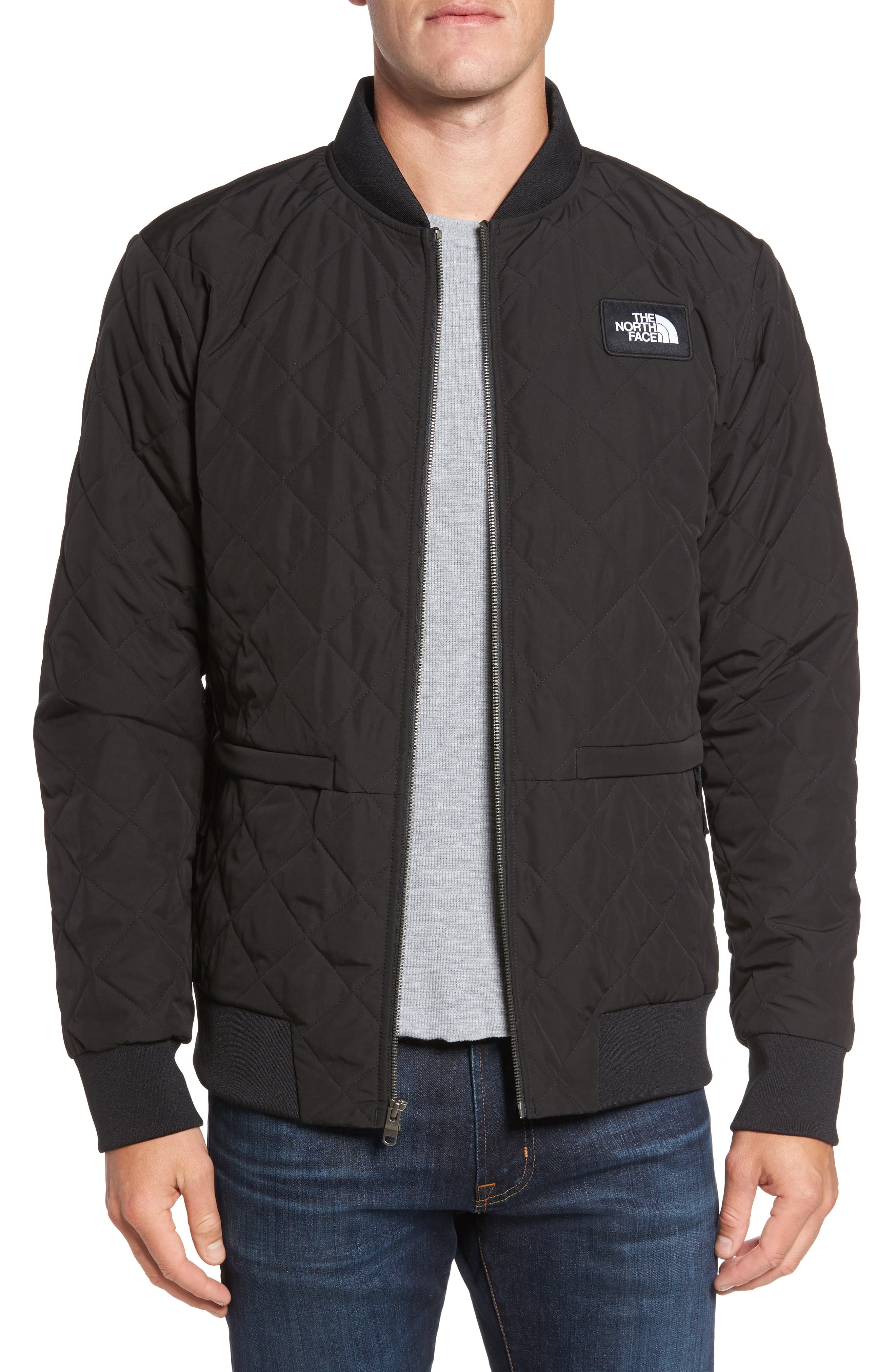 Distributor Quilted Bomber Jacket,                         Main,                         color, 001