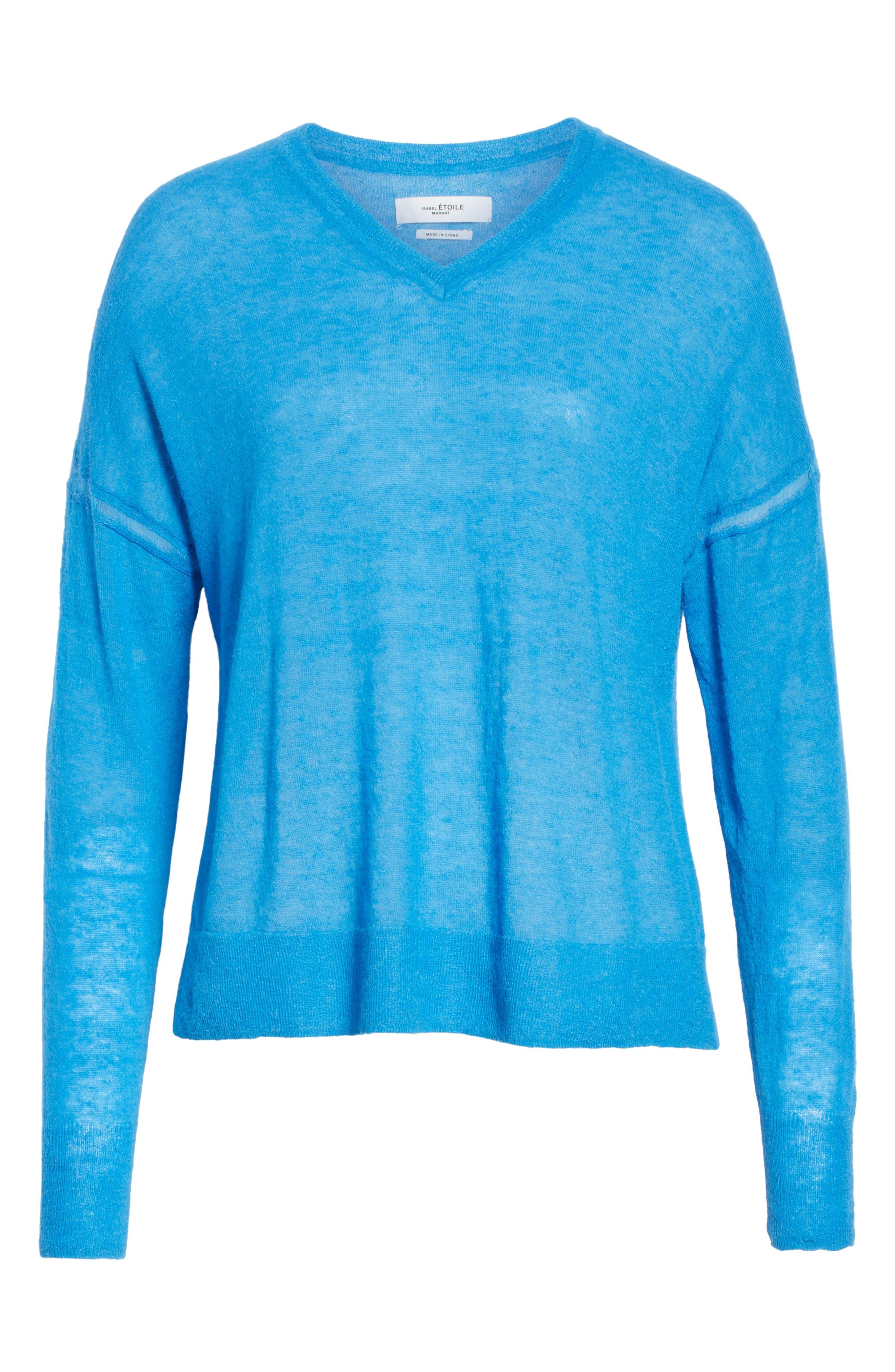 Isabel Marant Étoile Wool & Alpaca Blend Sweater,                             Alternate thumbnail 6, color,