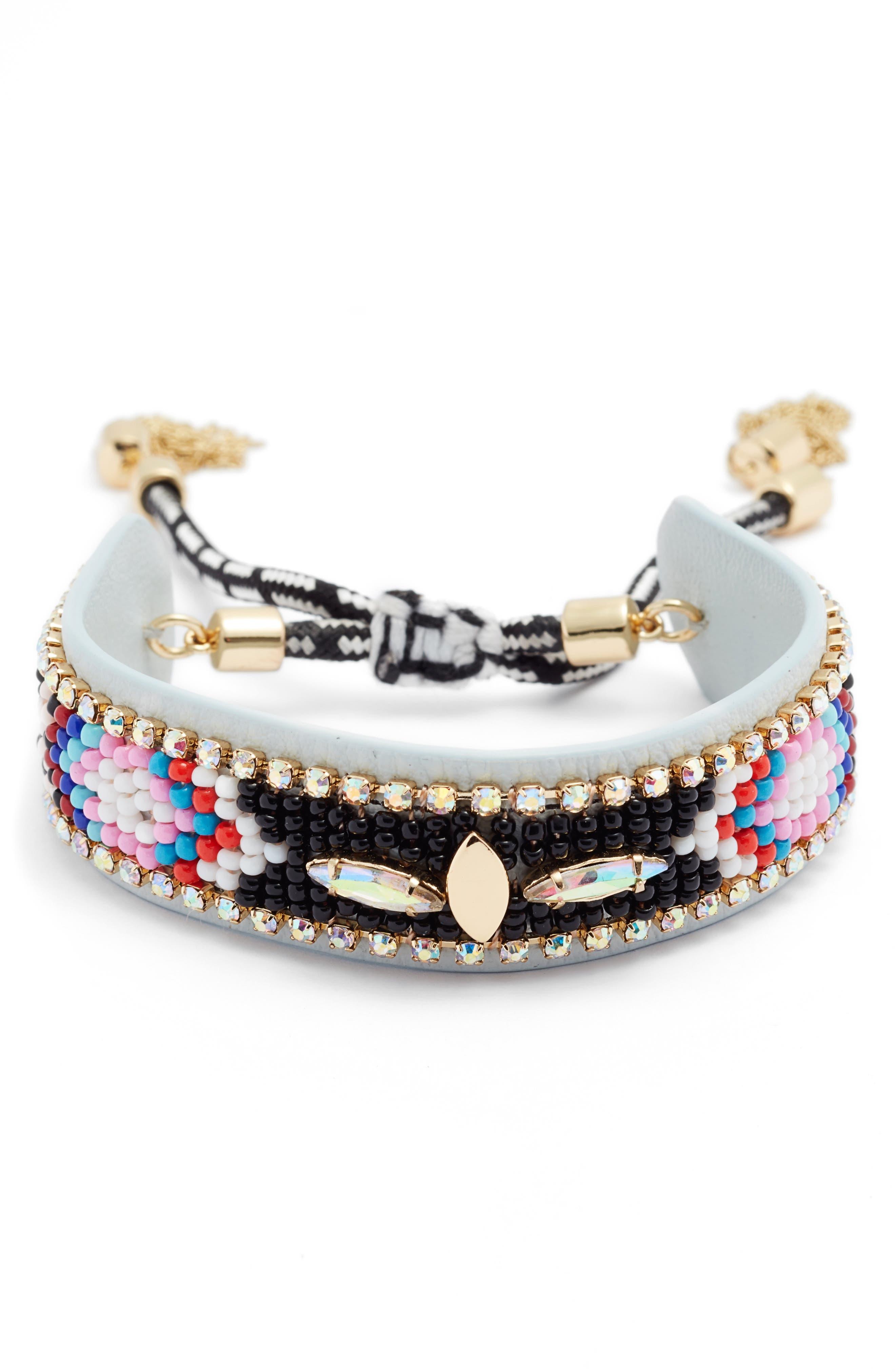 Sparkler Seed Bead Bracelet,                         Main,                         color, 001