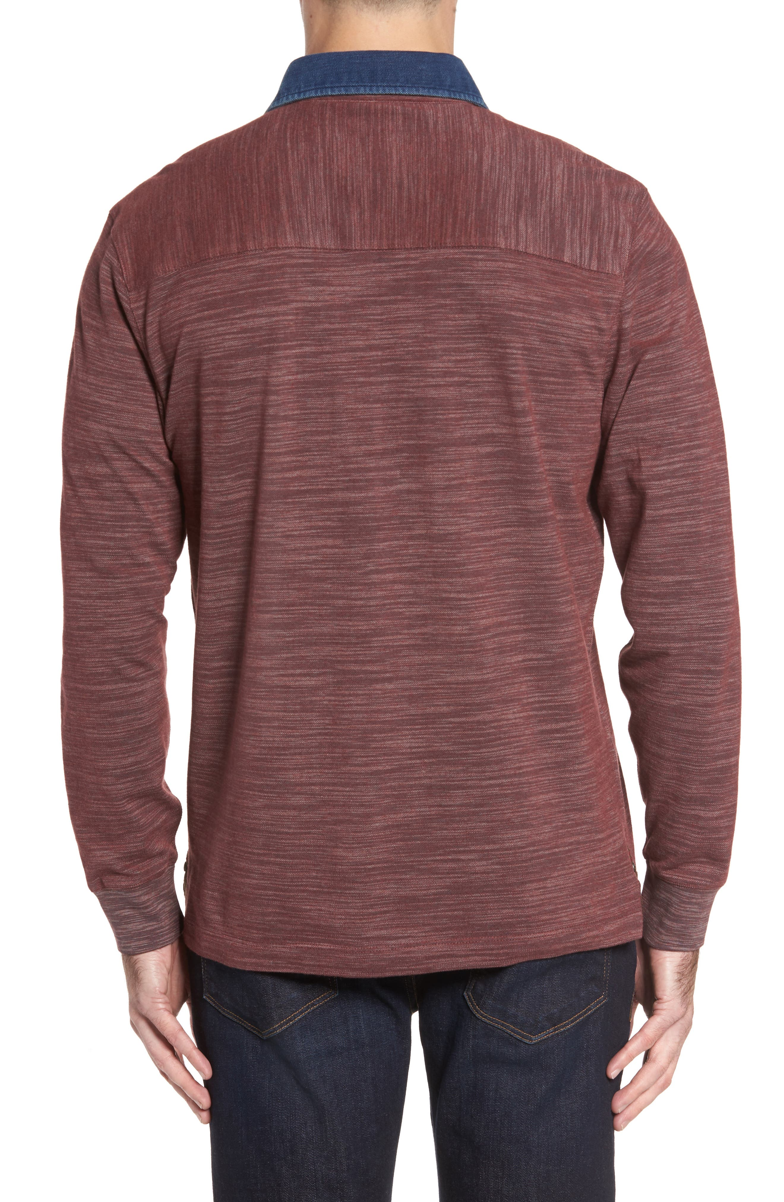 Patton Space Dyed Long Sleeve Polo,                             Alternate thumbnail 6, color,