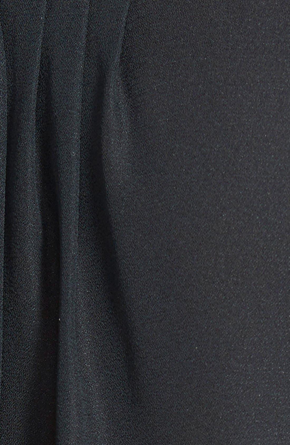 'Audrey' Maternity/Nursing Tuxedo Blouse,                             Alternate thumbnail 4, color,                             BLACK
