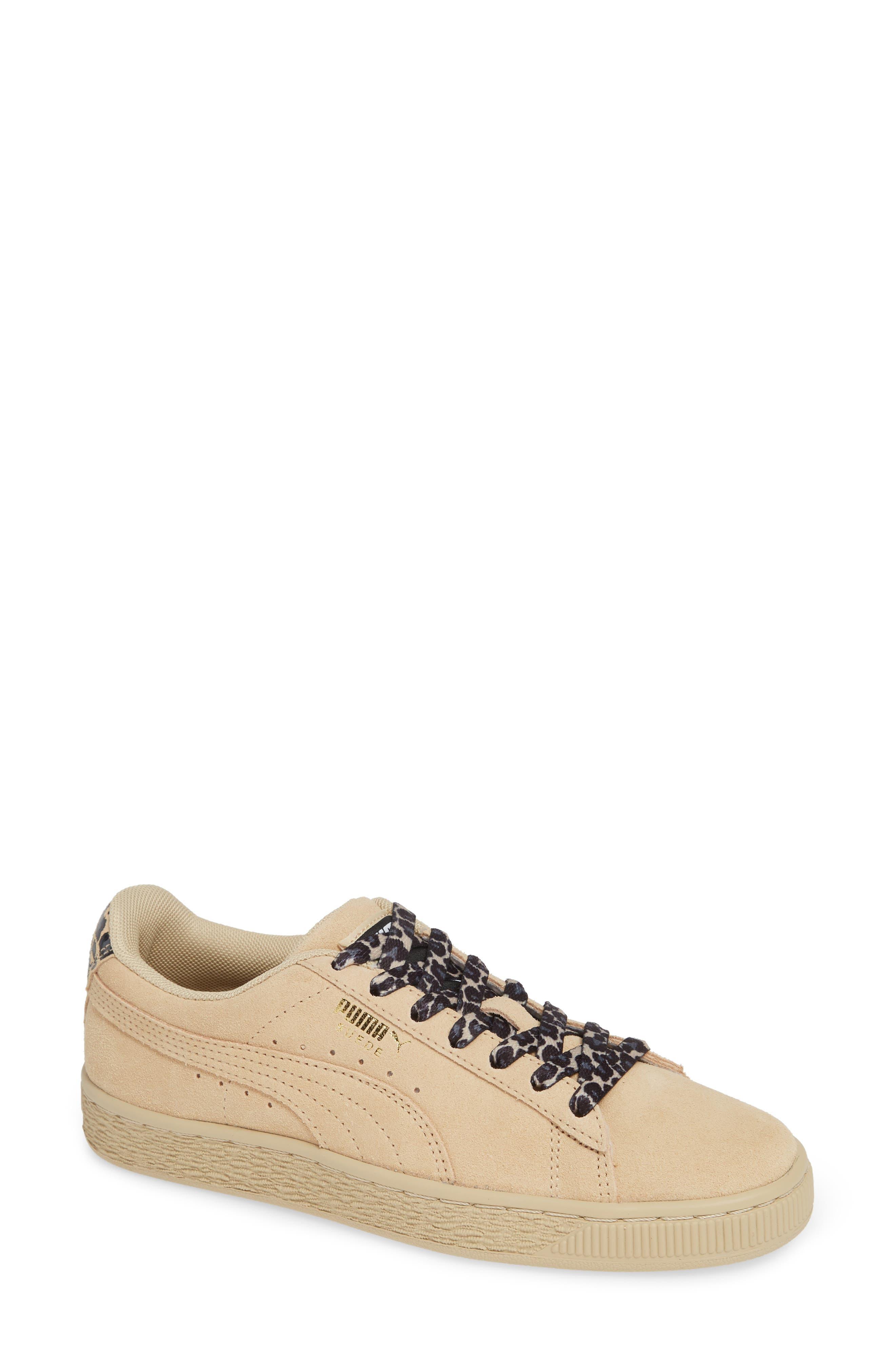 Suede Wild Sneaker, Main, color, BLACK/ TEAM GOLD/ PEBBLE