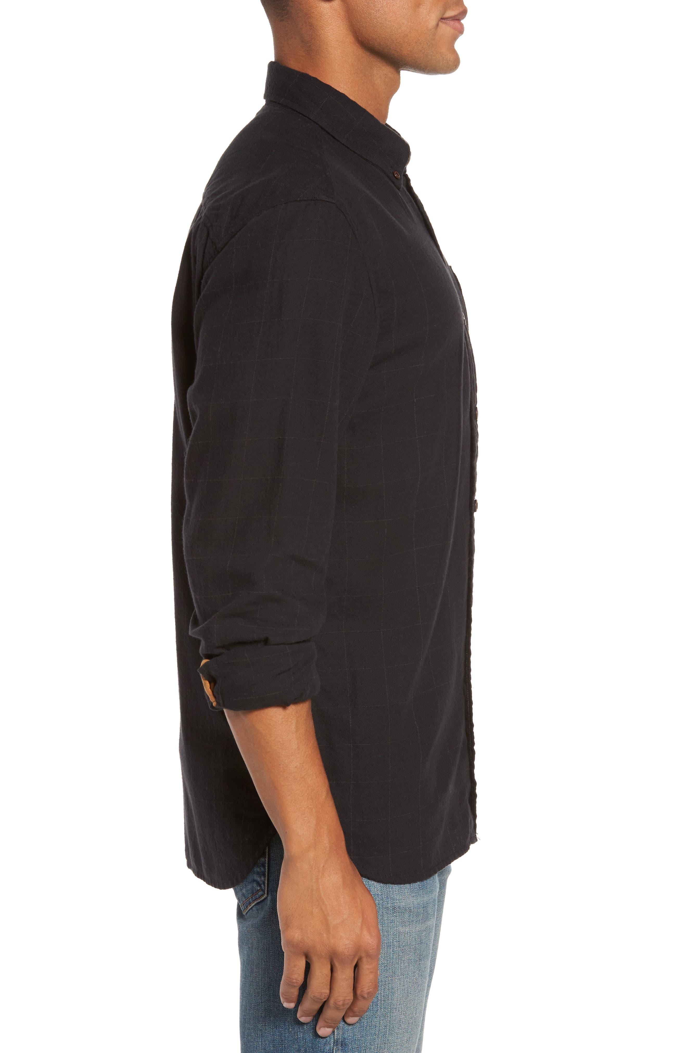 Tuman Windowpane Sport Shirt,                             Alternate thumbnail 3, color,                             001