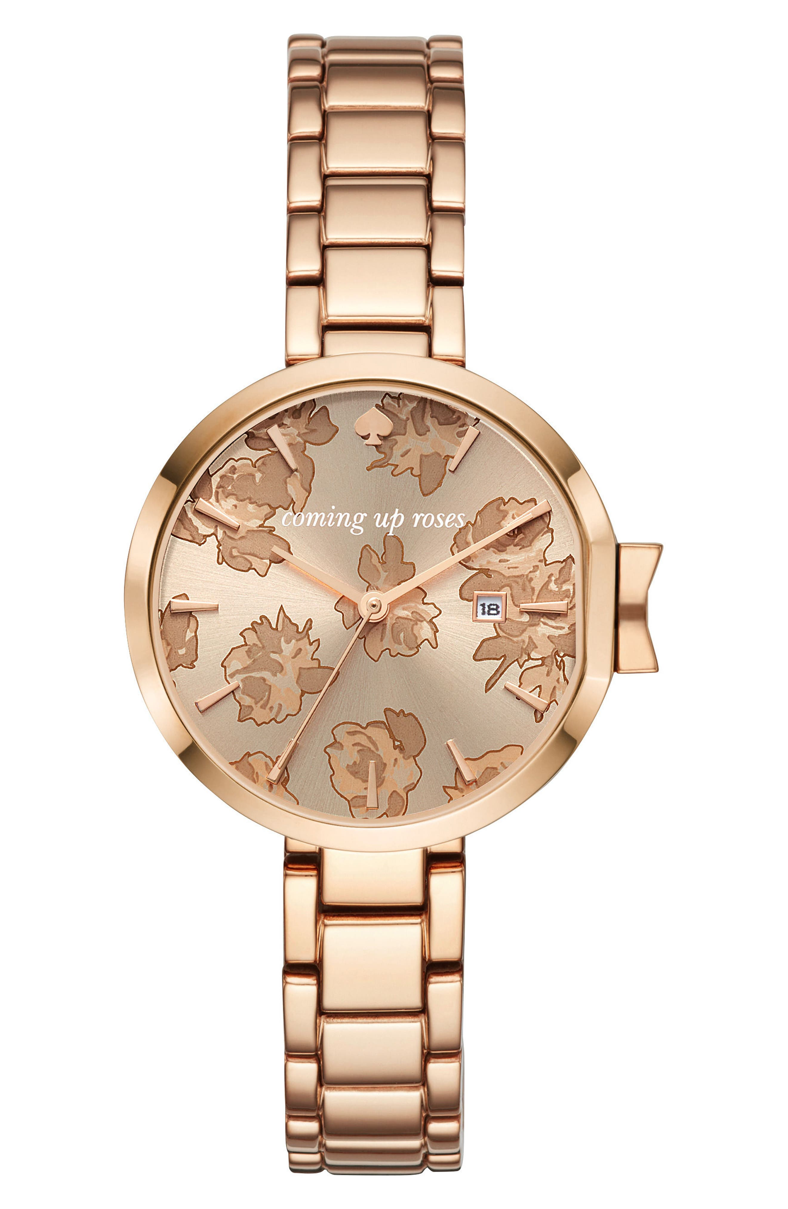 park row bracelet watch, 34mm,                             Main thumbnail 1, color,                             ROSE GOLD