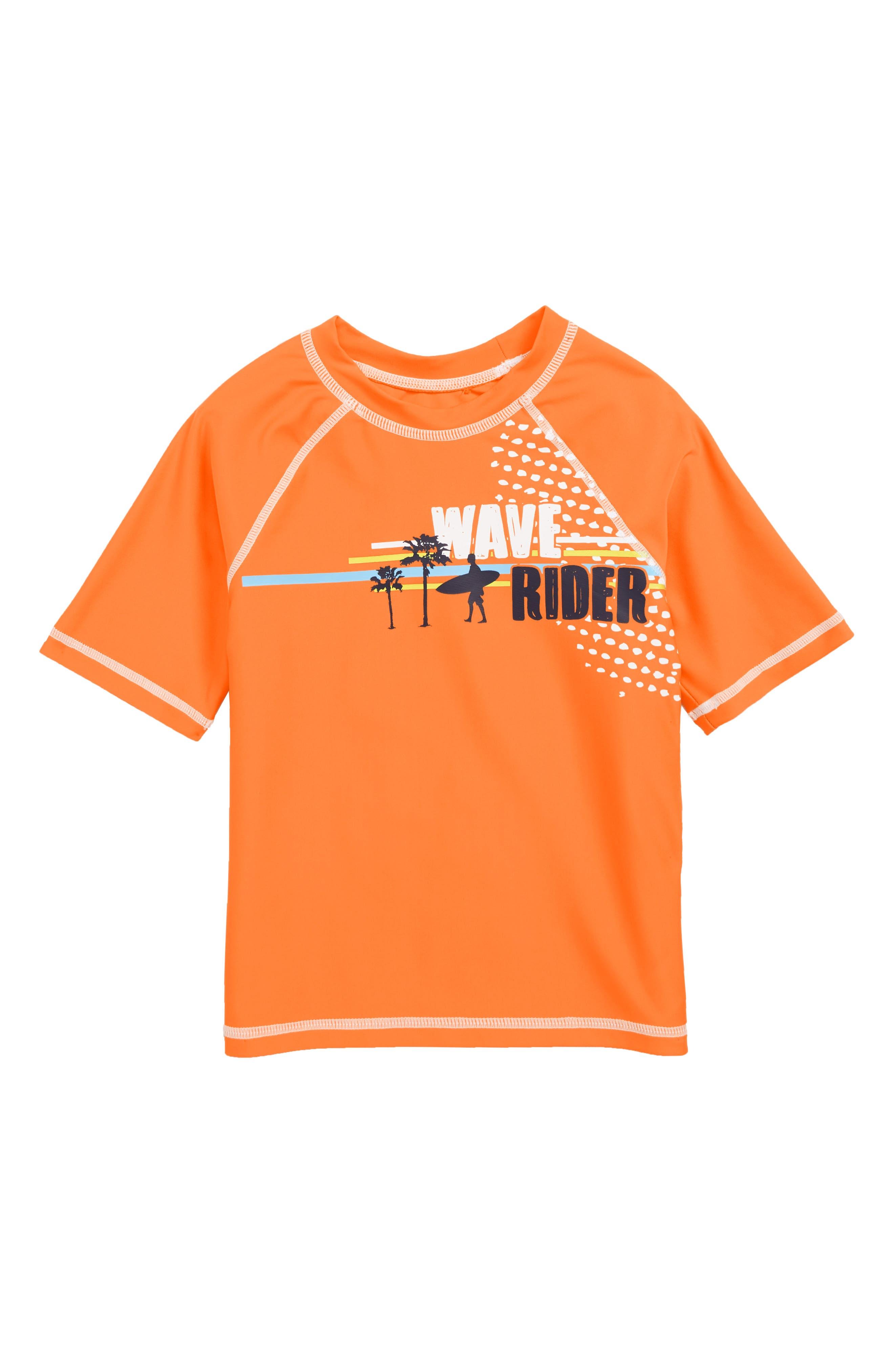 Toddler Boys Flapdoodles Wave Rider Rashguard Size 4T  Orange