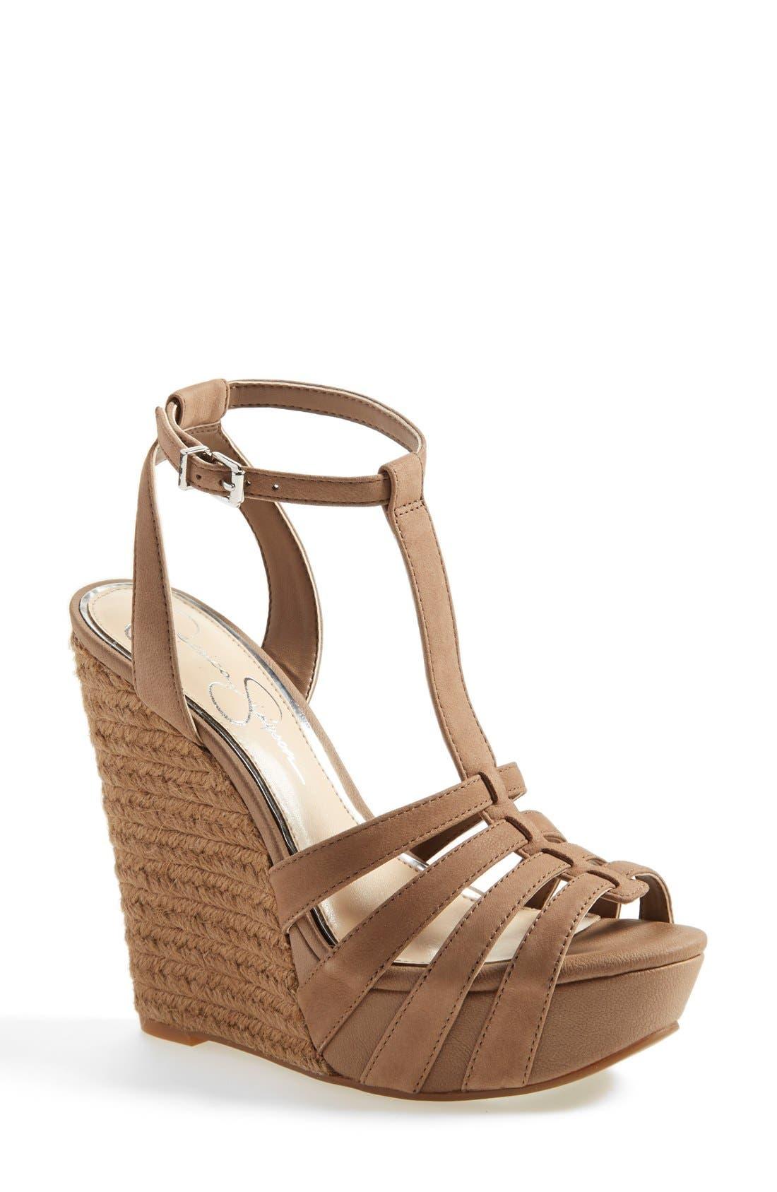 'Bristol' Ankle Strap Platform Wedge Sandal,                         Main,                         color, 250