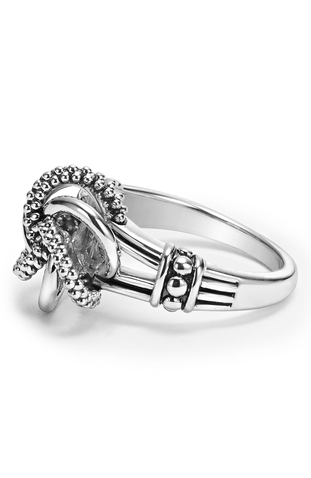 'Love Knot' Ring,                             Alternate thumbnail 3, color,                             STERLING SILVER