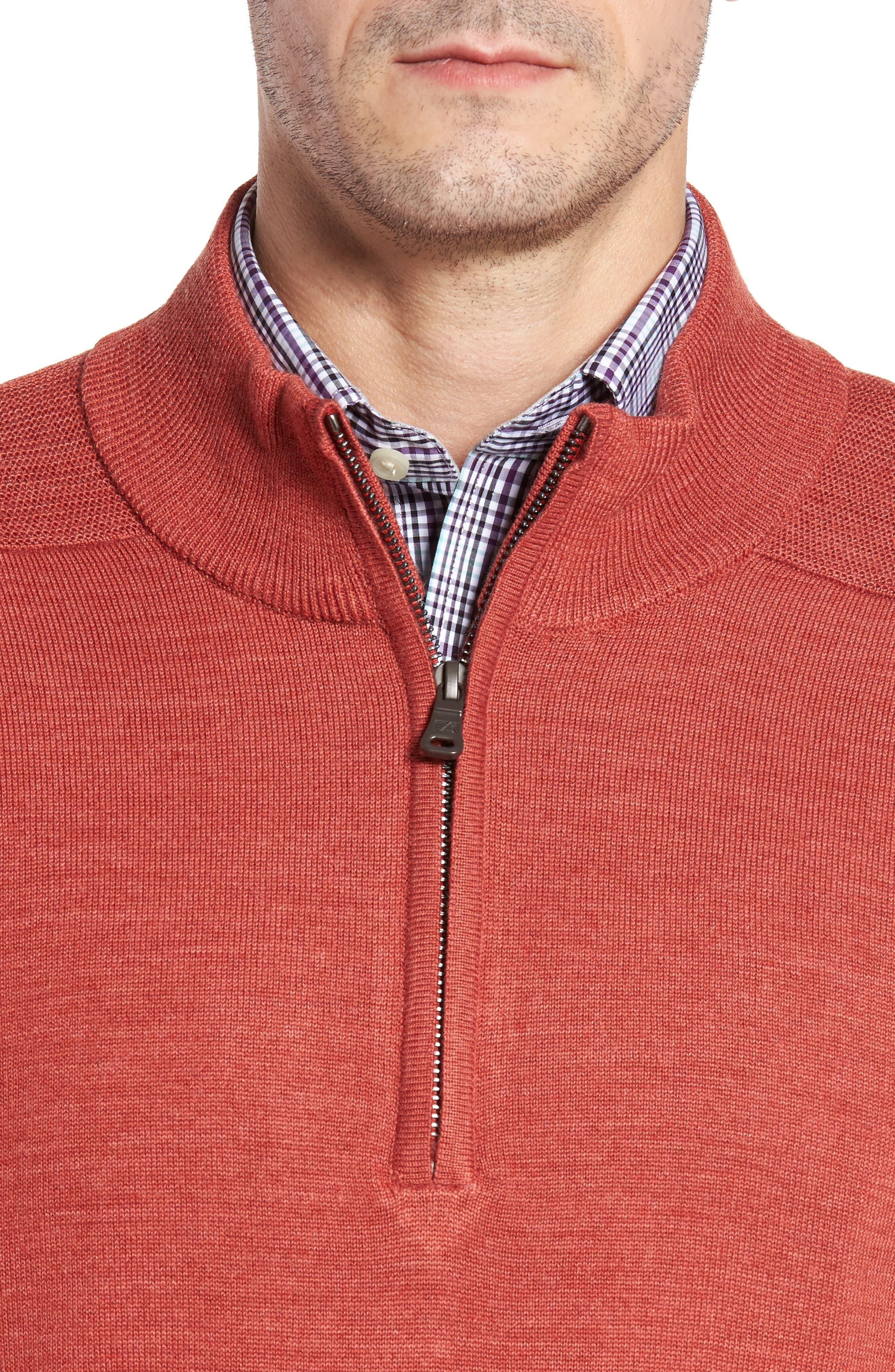 Douglas Quarter Zip Wool Blend Sweater,                             Alternate thumbnail 4, color,                             600