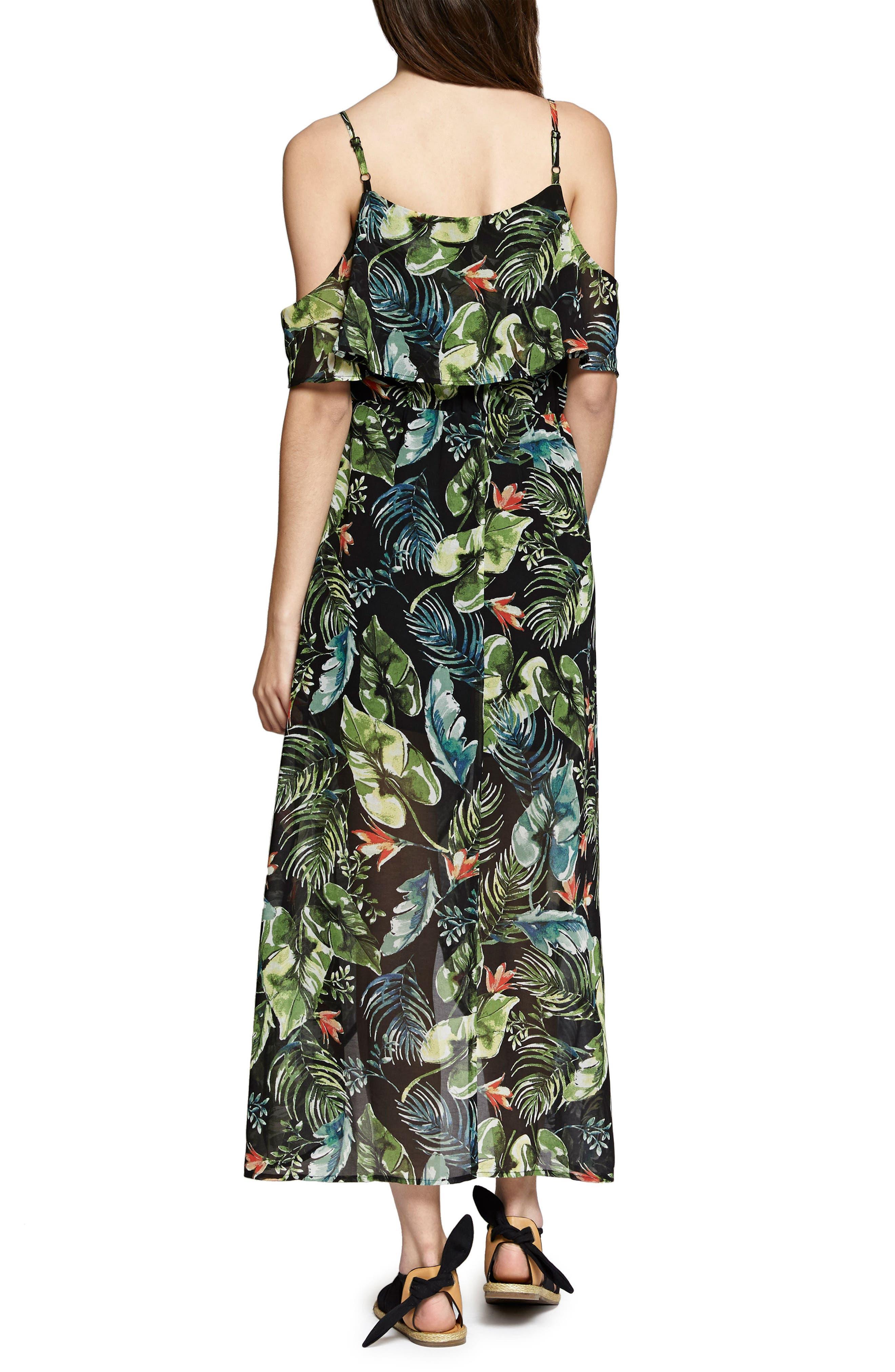 Sofia Ruffled Print Maxi Dress,                             Alternate thumbnail 2, color,                             016