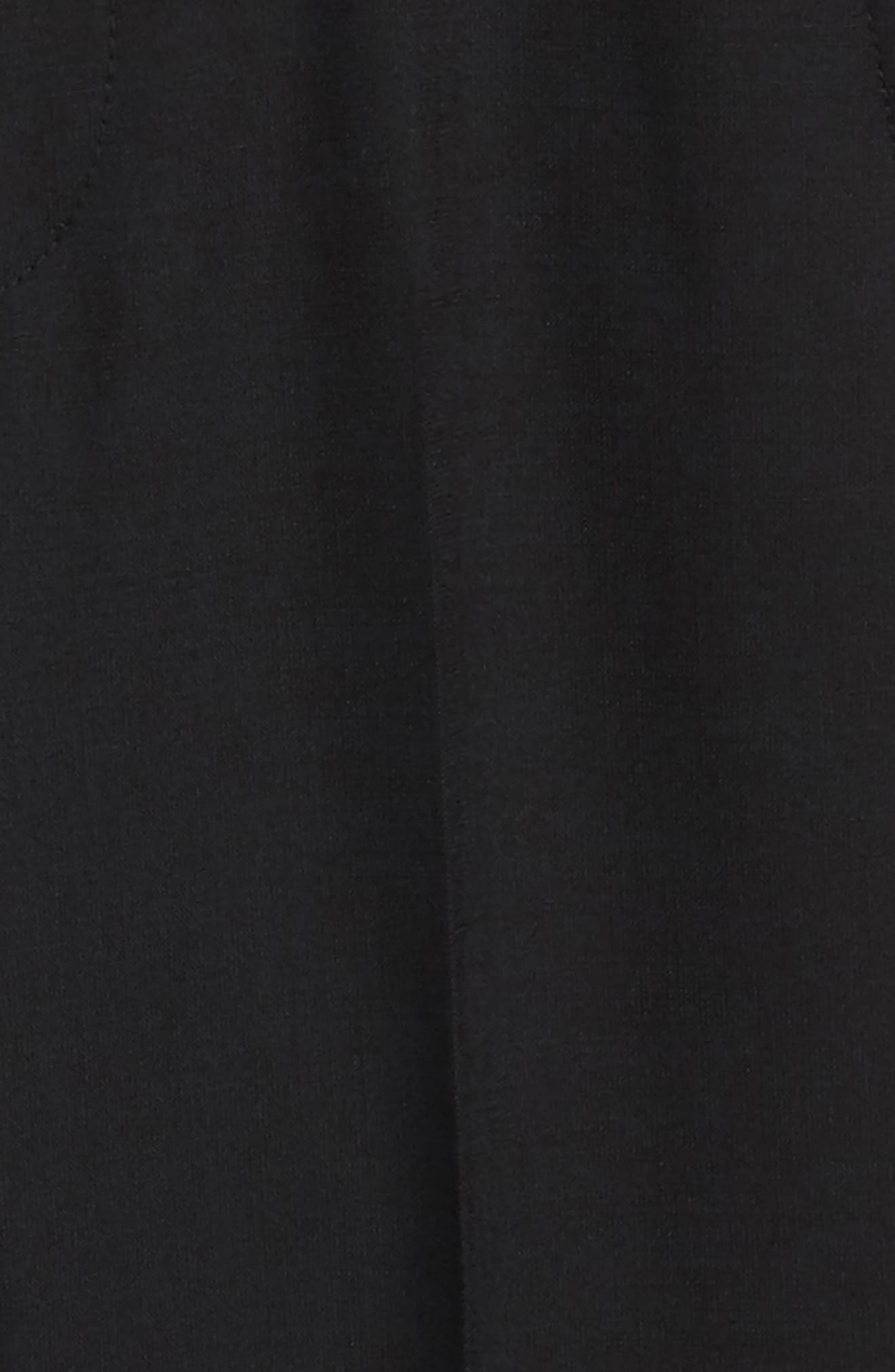 TALLIA,                             Solid Wool Blend Flat Front Trousers,                             Alternate thumbnail 2, color,                             BLACK