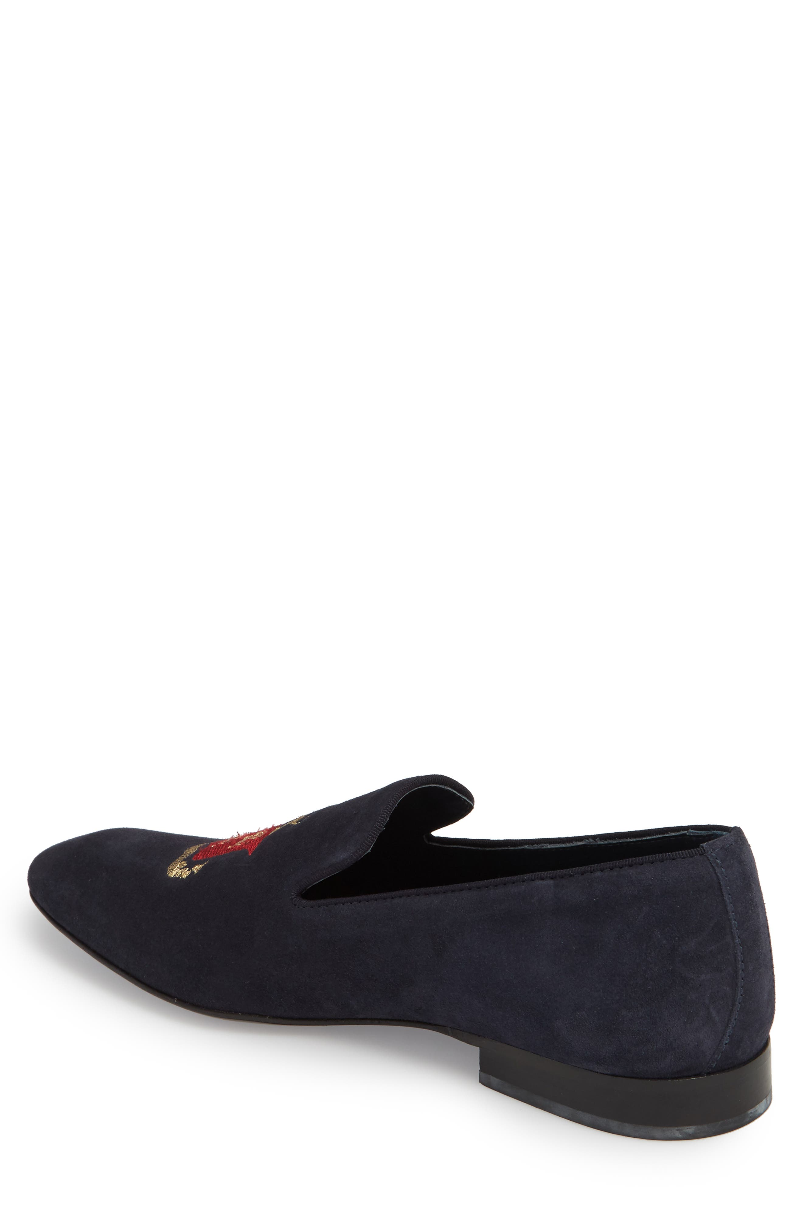 Altos Embroidered Venetian Loafer,                             Alternate thumbnail 2, color,                             NAVY