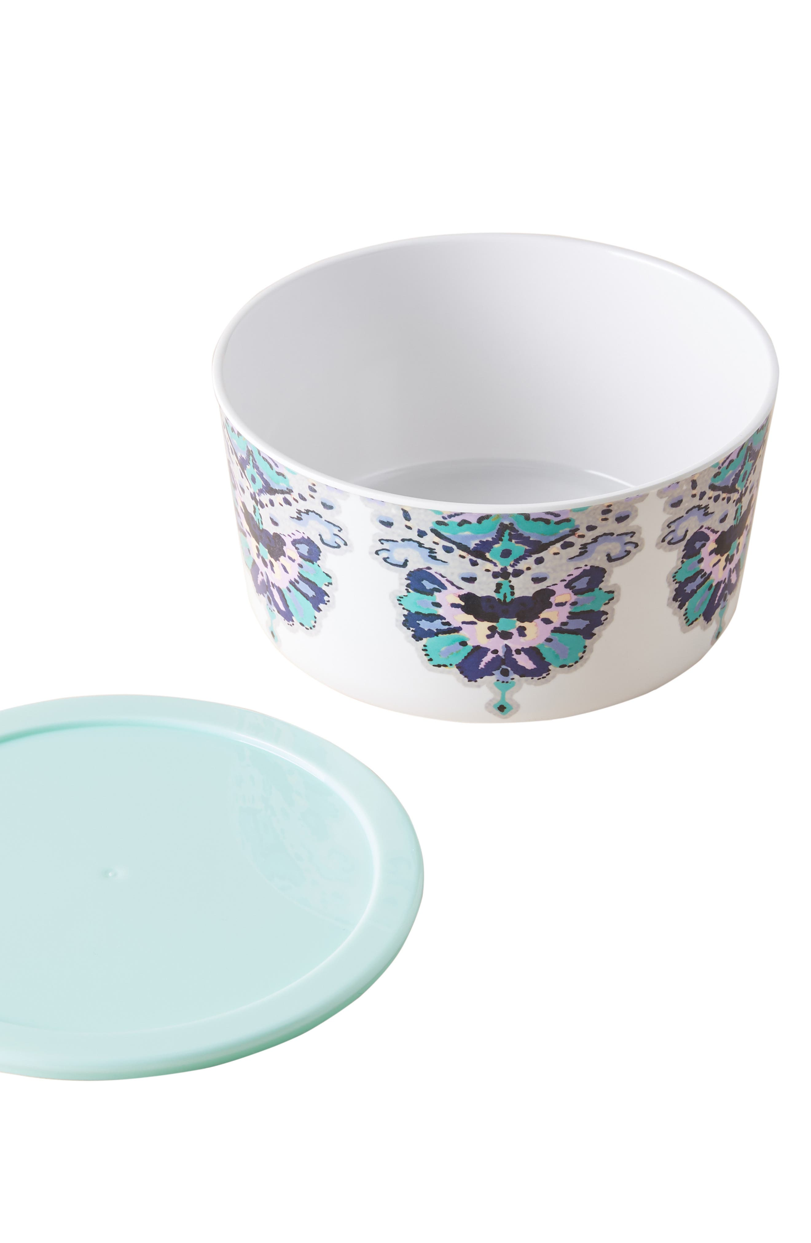 Lilia Melamine Storage Bowl,                             Alternate thumbnail 3, color,                             AQUA - SMALL