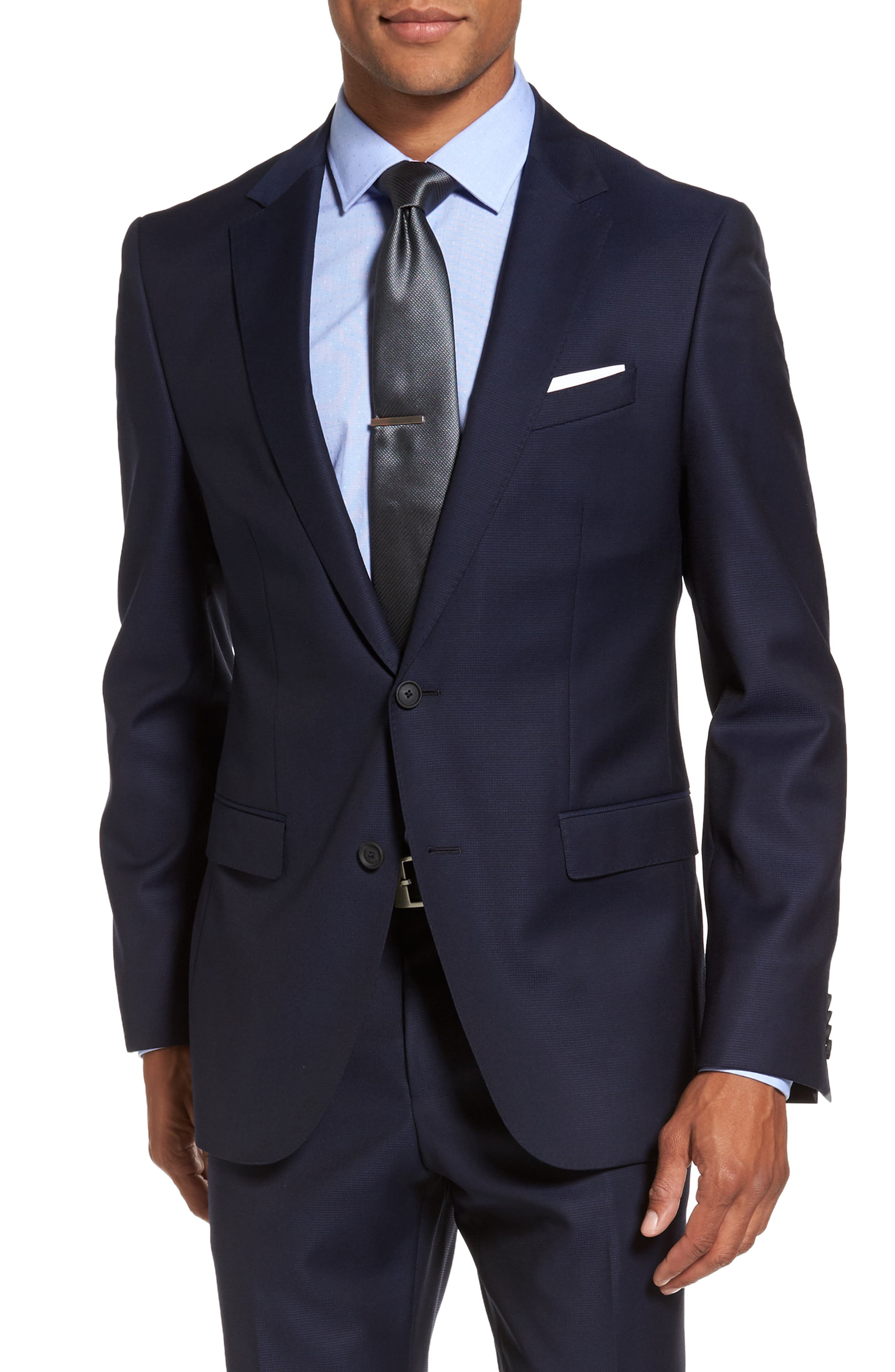 Nestro/Byte Trim Fit Solid Wool Suit,                             Alternate thumbnail 5, color,                             410