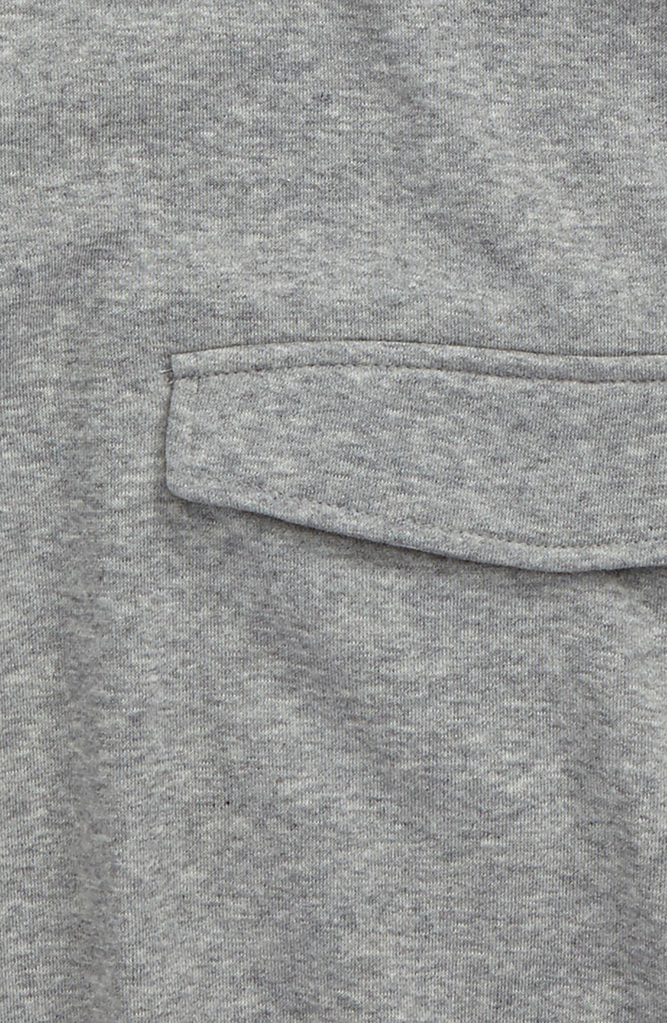 Snap Pocket Short Sleeve Hoodie,                             Alternate thumbnail 2, color,                             020