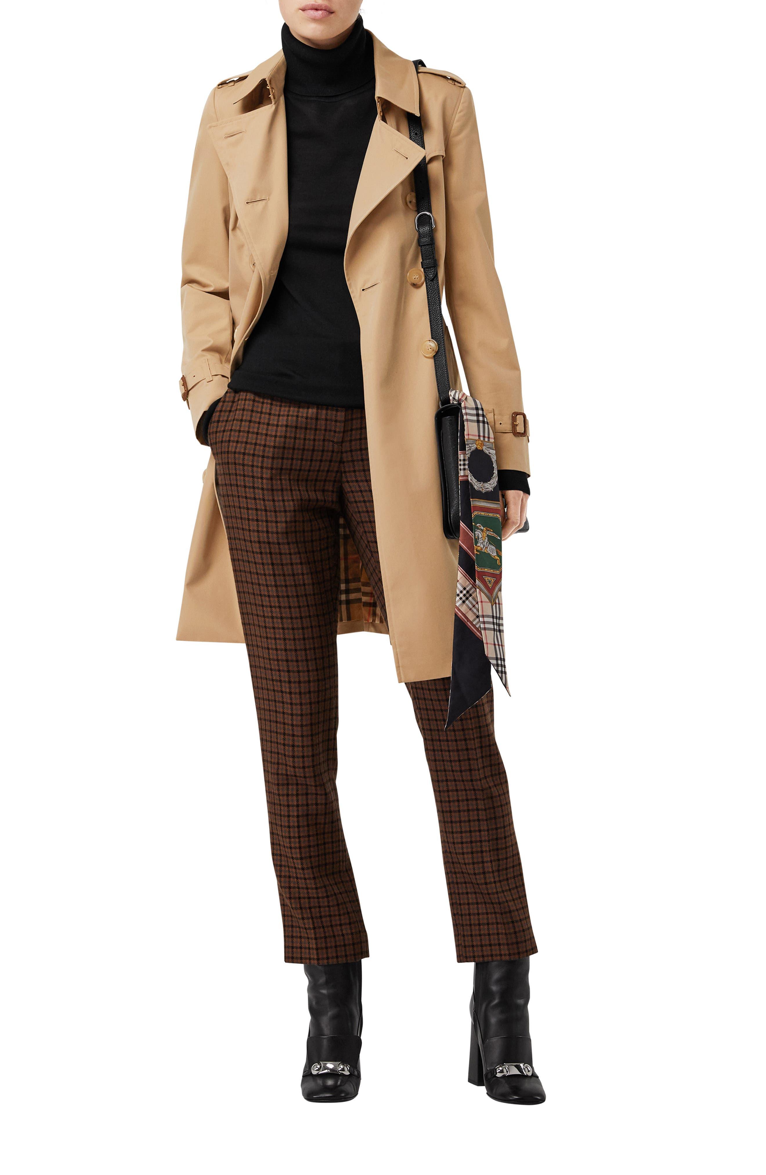 The Chelsea Slim Fit Heritage Trench Coat,                             Alternate thumbnail 4, color,                             DARK HONEY