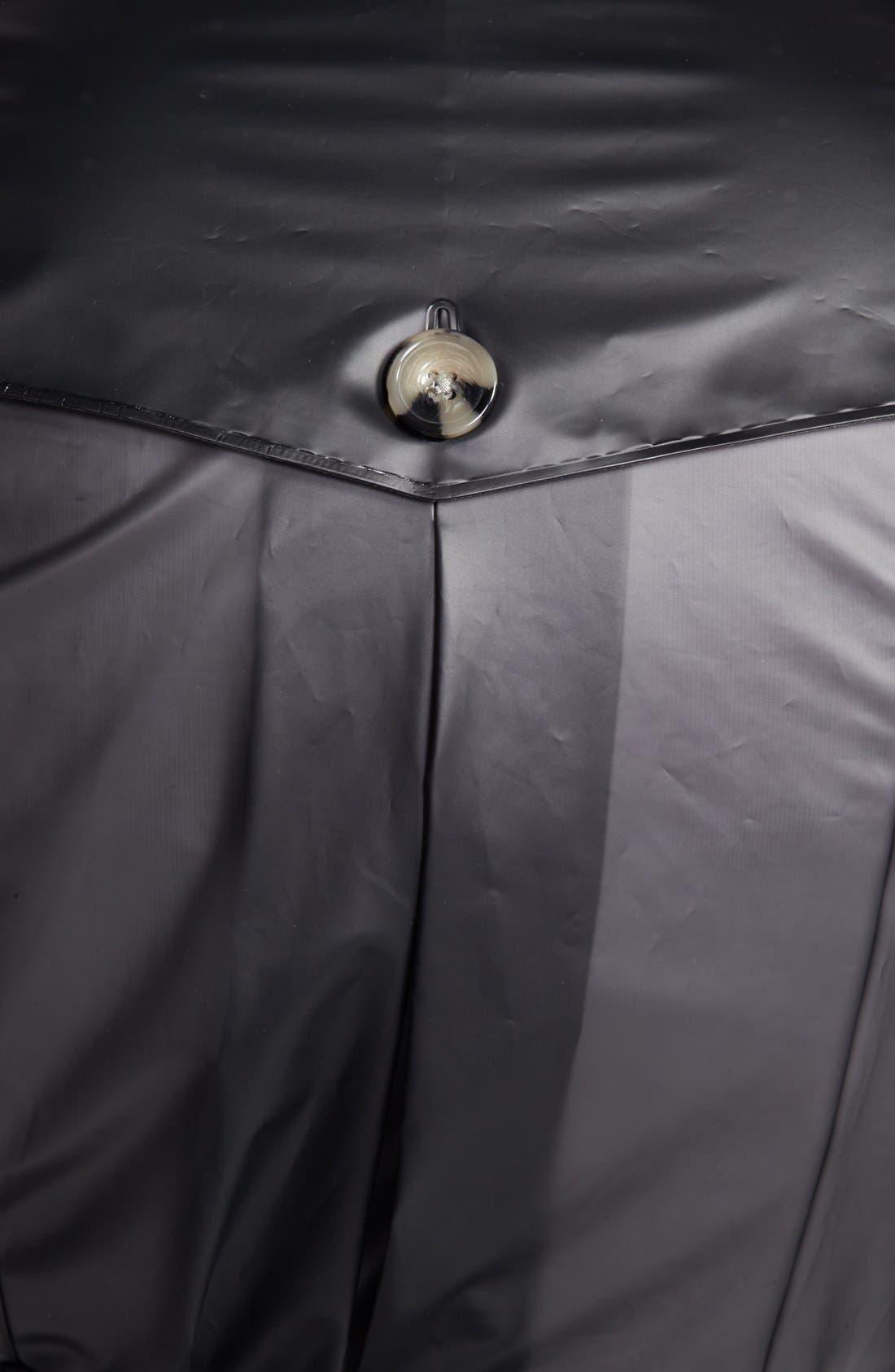 TERRA NEW YORK,                             Waterproof Translucent Trench Coat,                             Alternate thumbnail 3, color,                             001