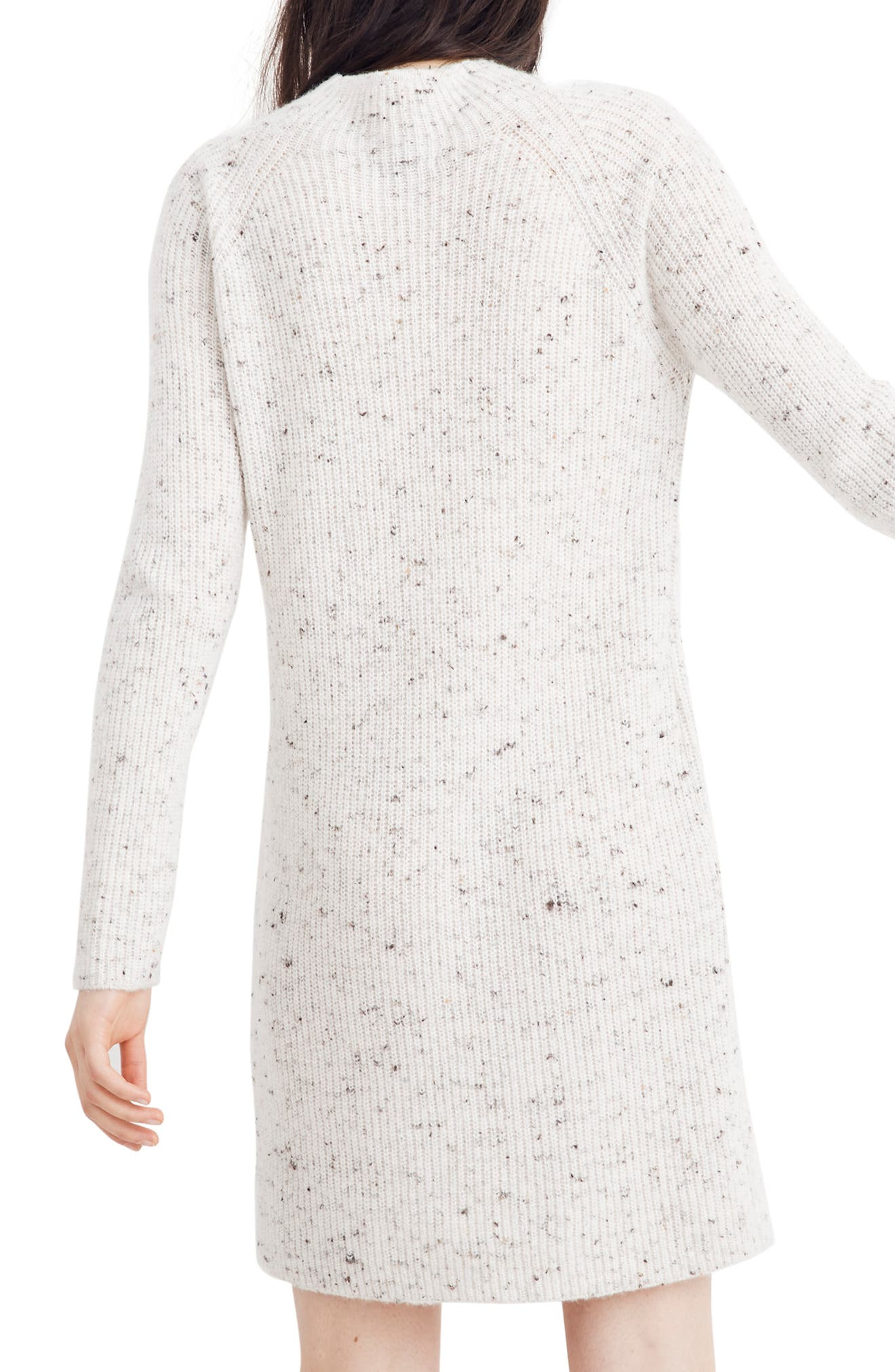Northfield Donegal Mock Neck Sweater Dress,                             Alternate thumbnail 3, color,                             DONEGAL STORM