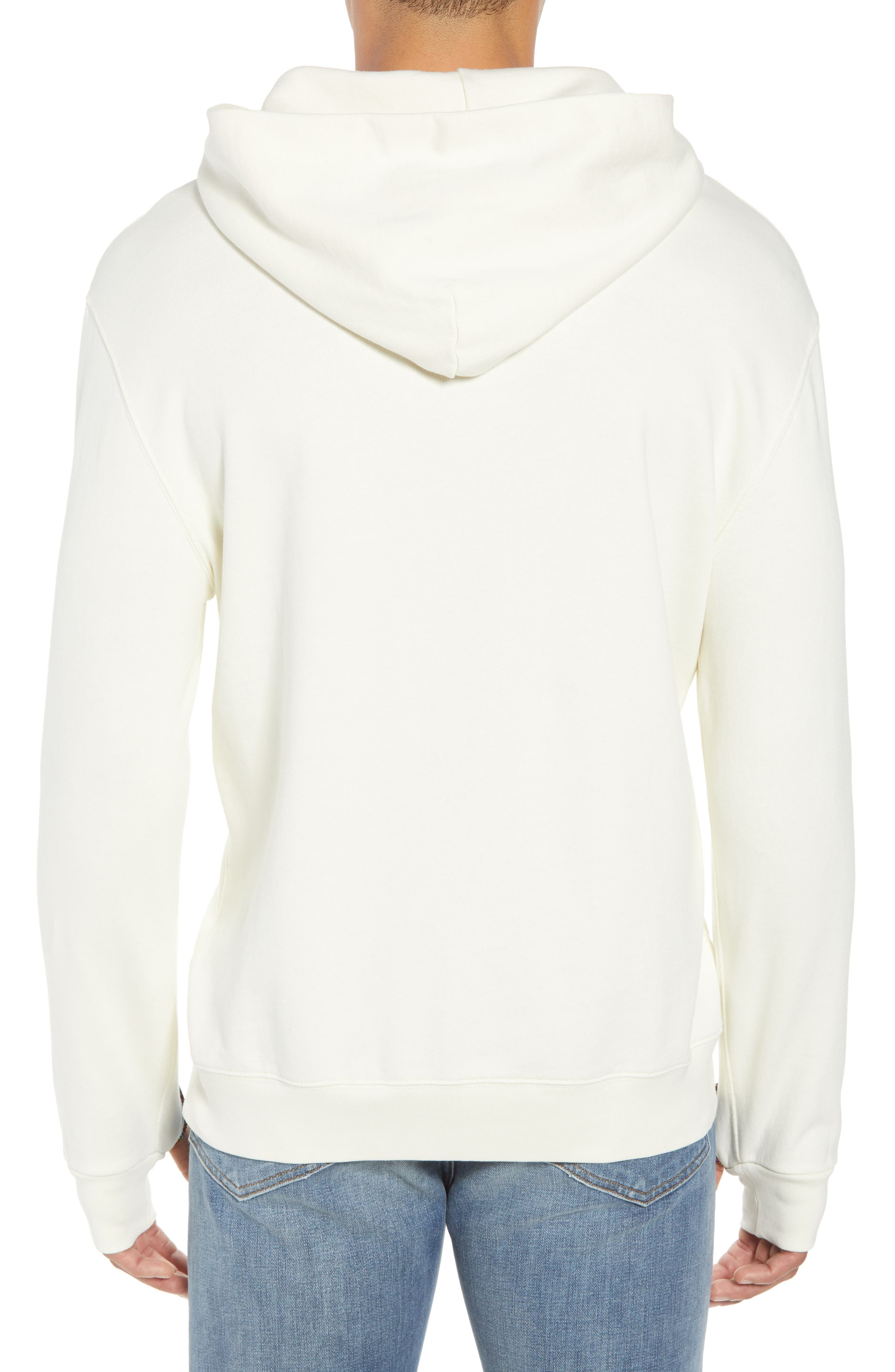Pyramid Classic Fit Hoodie,                             Alternate thumbnail 2, color,                             OFF WHITE