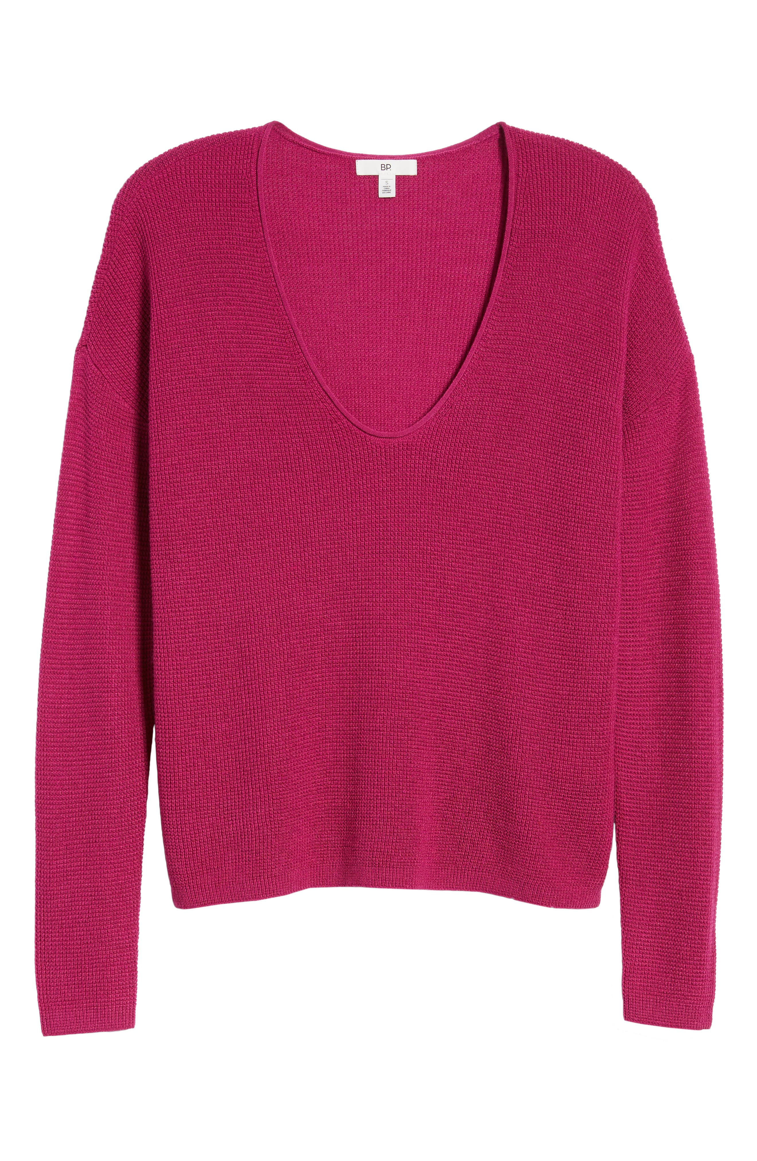 Textured Stitch V-Neck Pullover,                             Alternate thumbnail 7, color,                             651