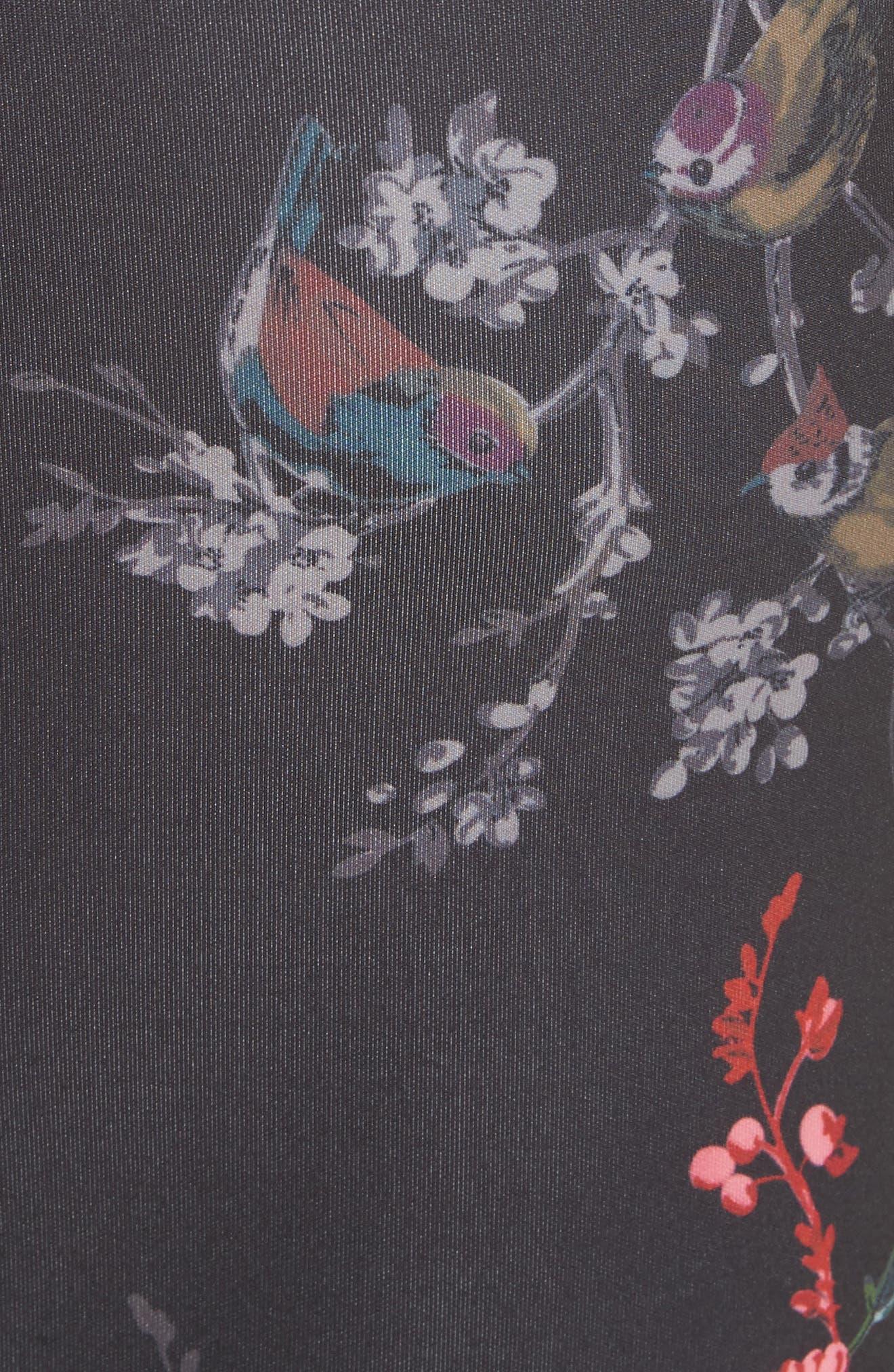 Opulent Fauna Pencil Skirt,                             Alternate thumbnail 5, color,