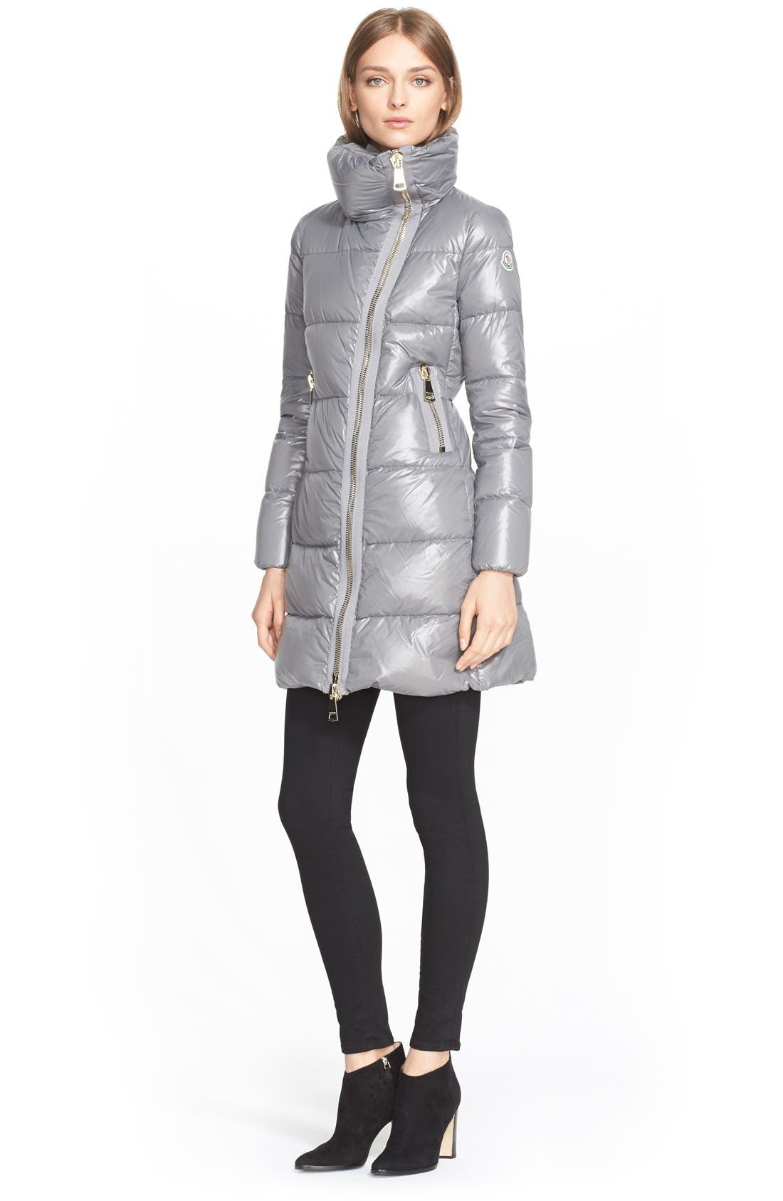 'Joinville' Water Resistant High Collar Down Puffer Coat,                             Alternate thumbnail 4, color,                             020