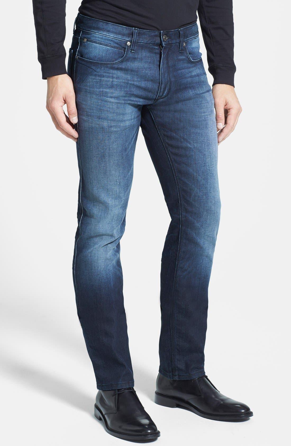 HUGO '708' Slim Fit Jeans,                             Alternate thumbnail 10, color,