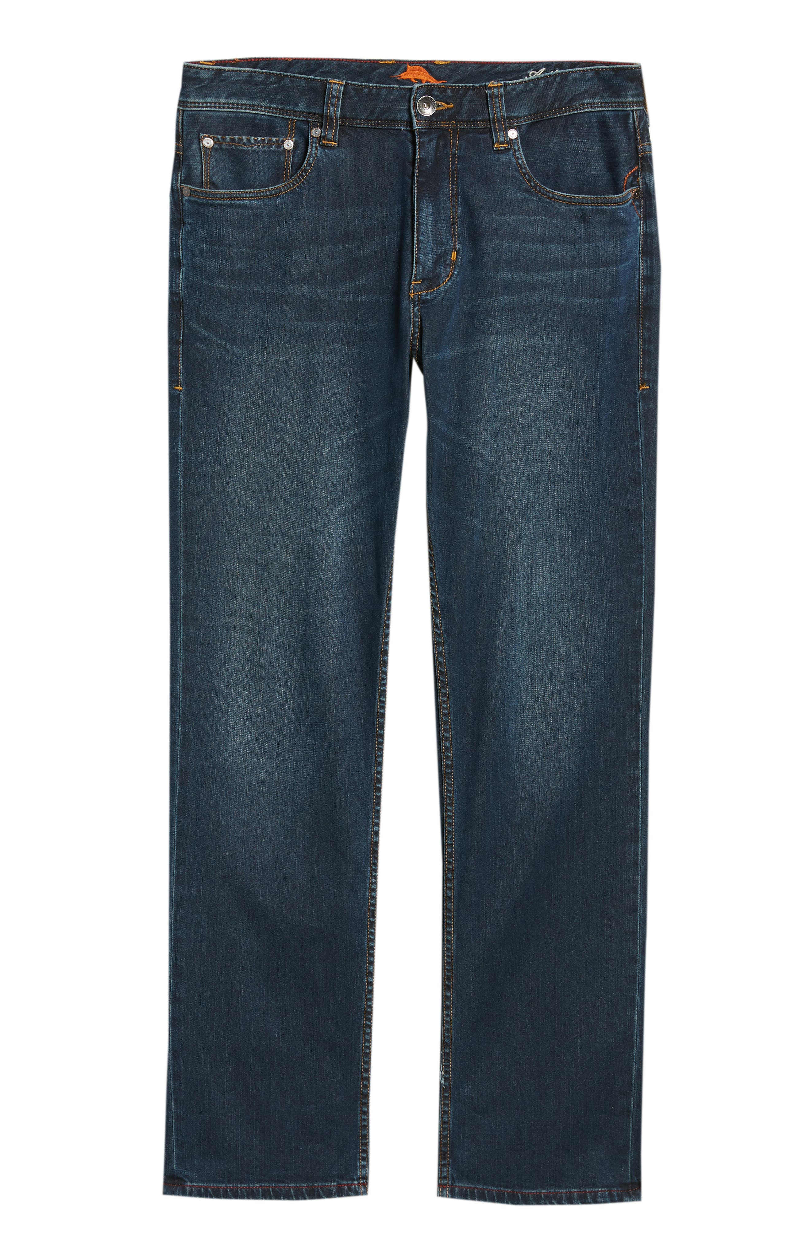 Straight Leg Jeans,                             Alternate thumbnail 6, color,                             400