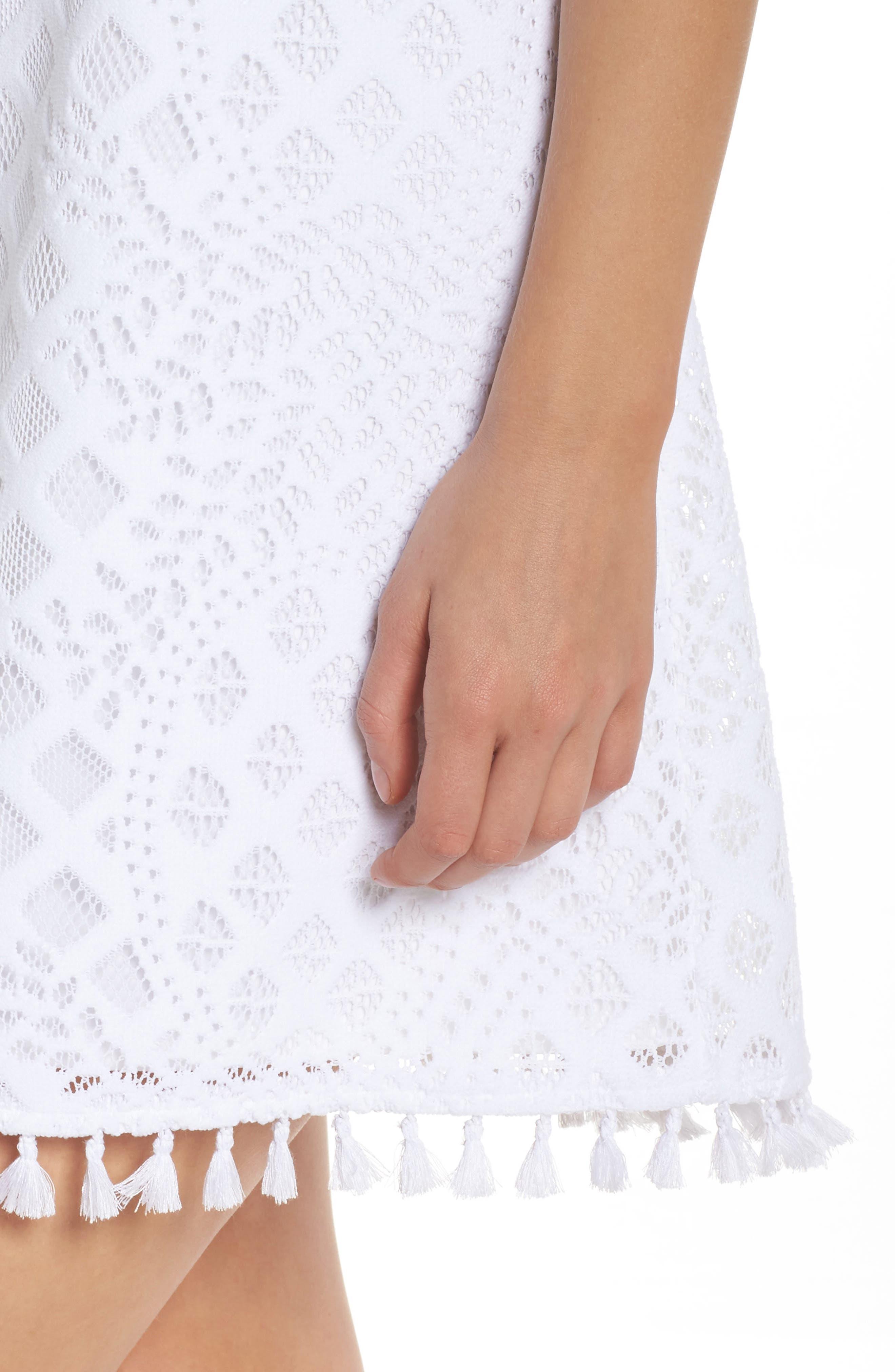 Marquette Lace Shift Dress,                             Alternate thumbnail 4, color,                             115
